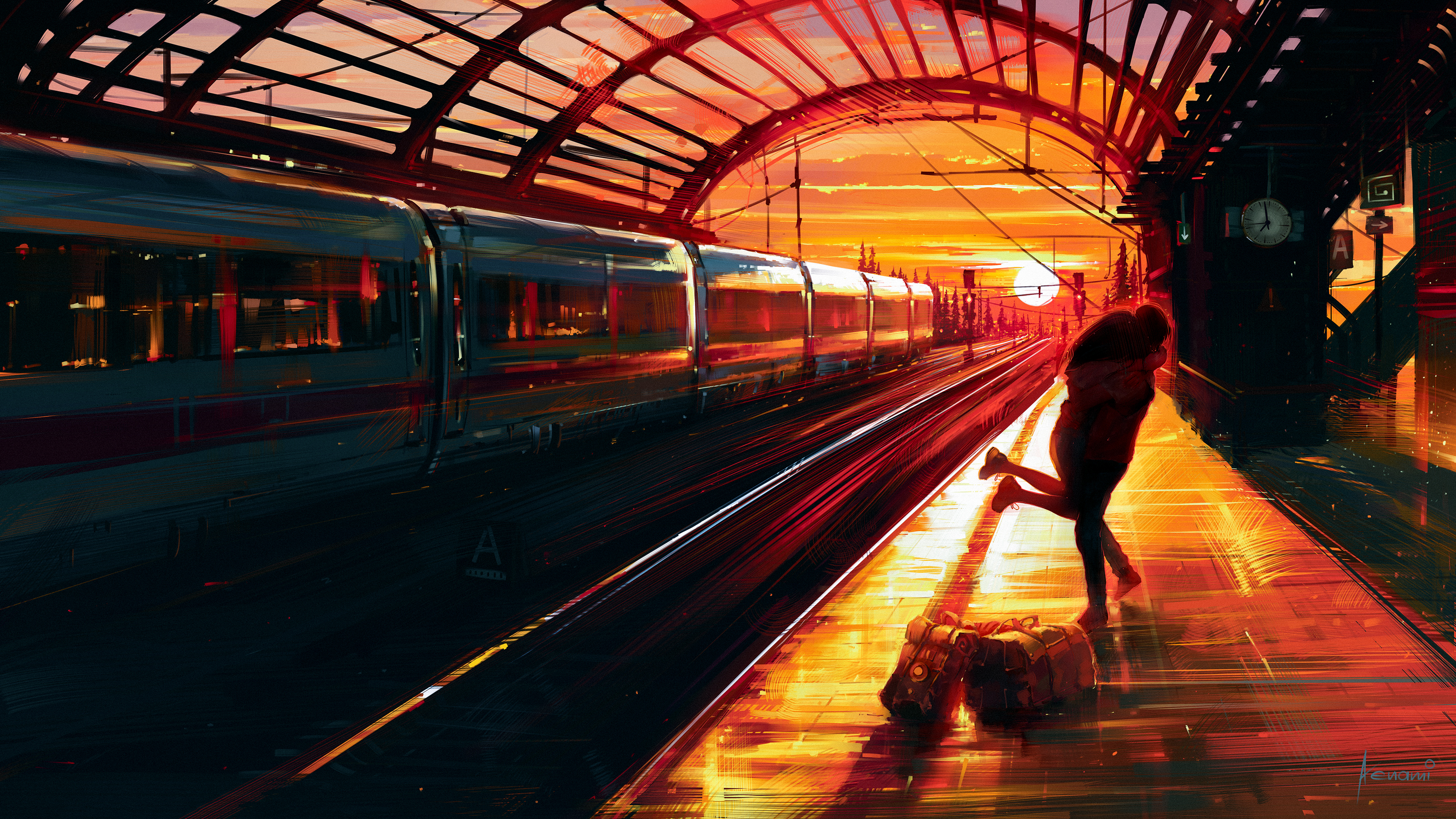 couple hugging at train station 1574939686 - Couple Hugging At Train Station -