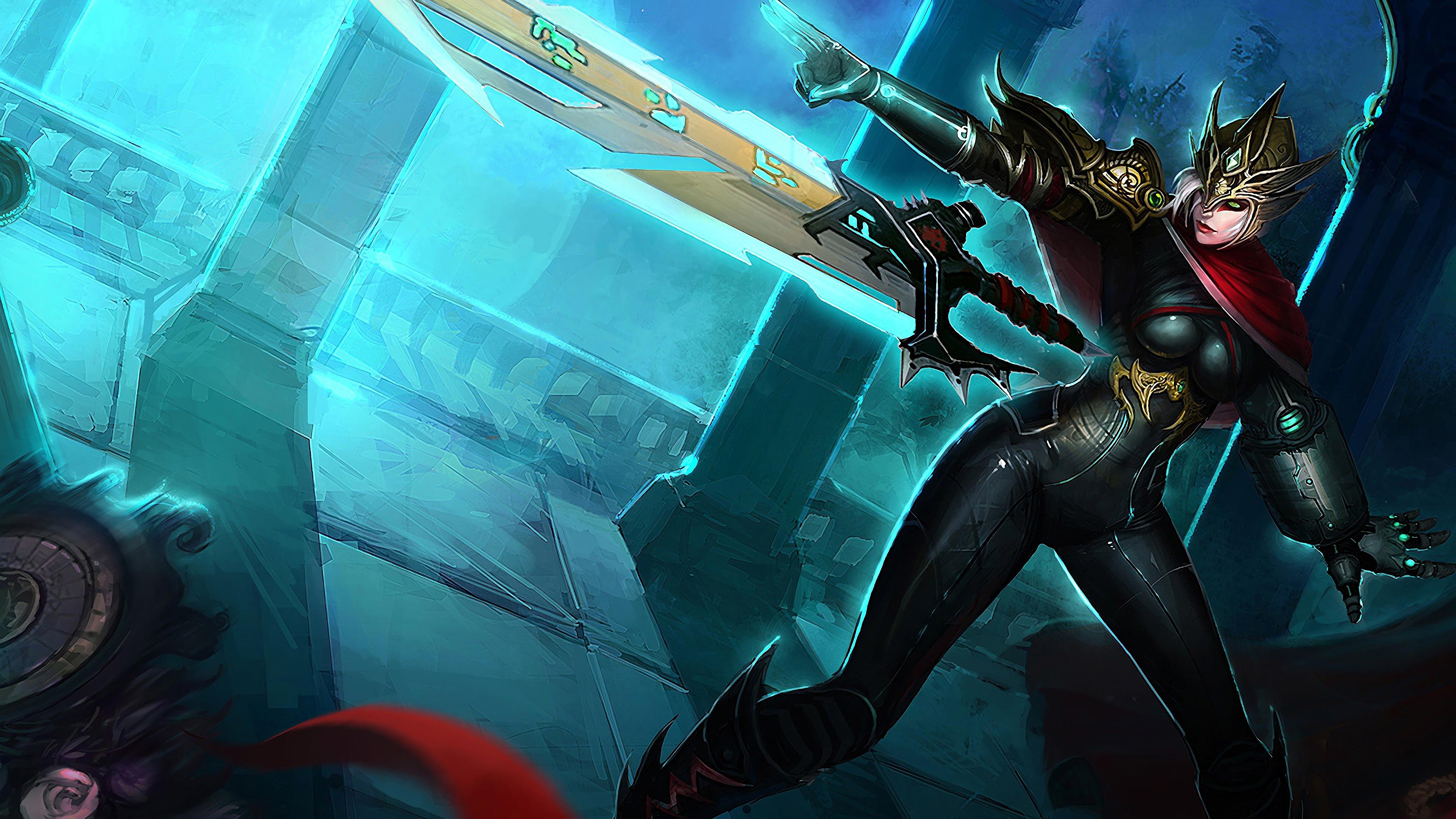 crimson elite riven lol splash art league of legends 1574100336 - Crimson Elite Riven LoL Splash Art League of Legends - Riven, league of legends