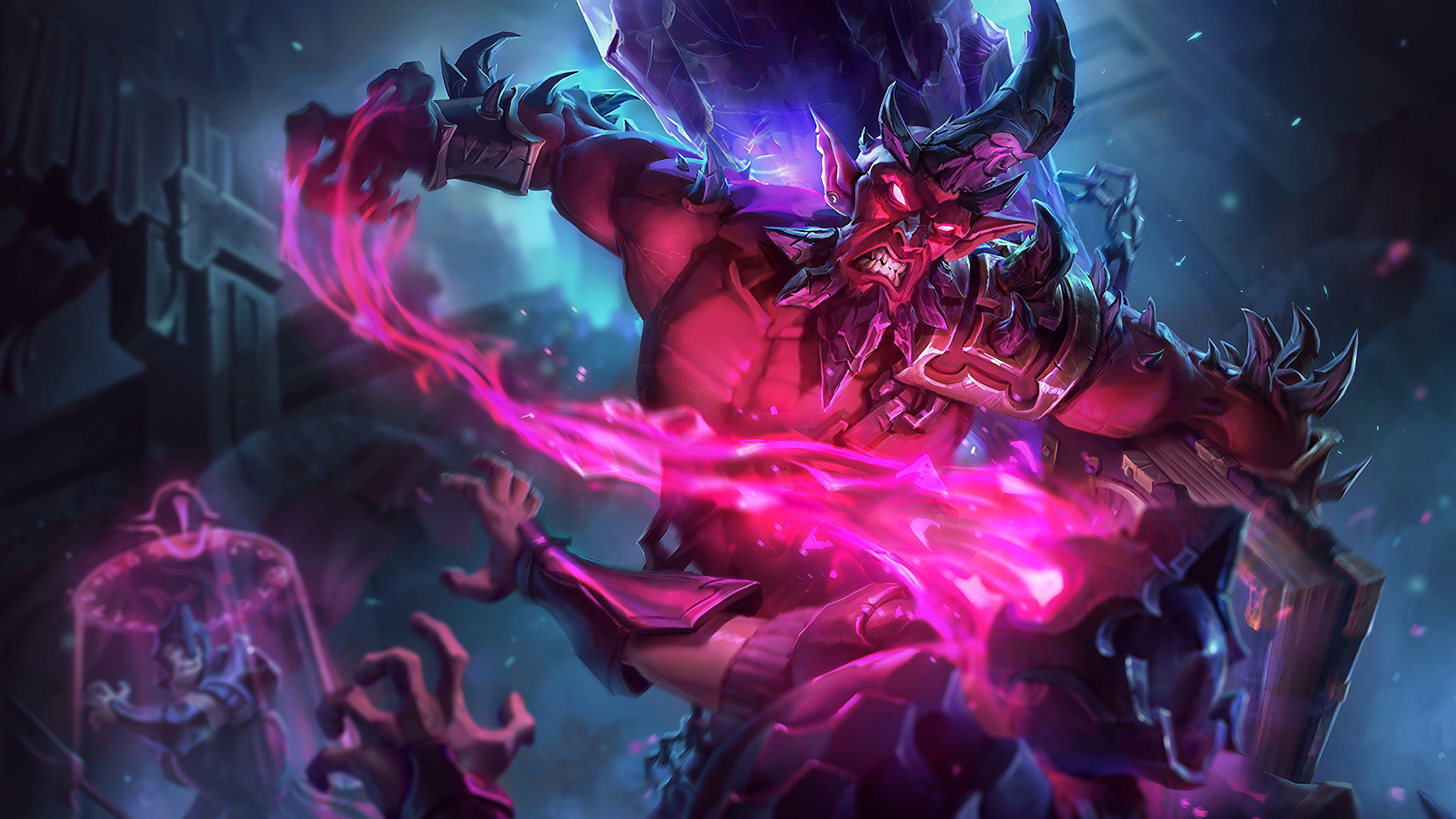 Wallpaper 4k Dark Crystal Ryze Lol Splash Art League Of Legends League Of Legends Ryze