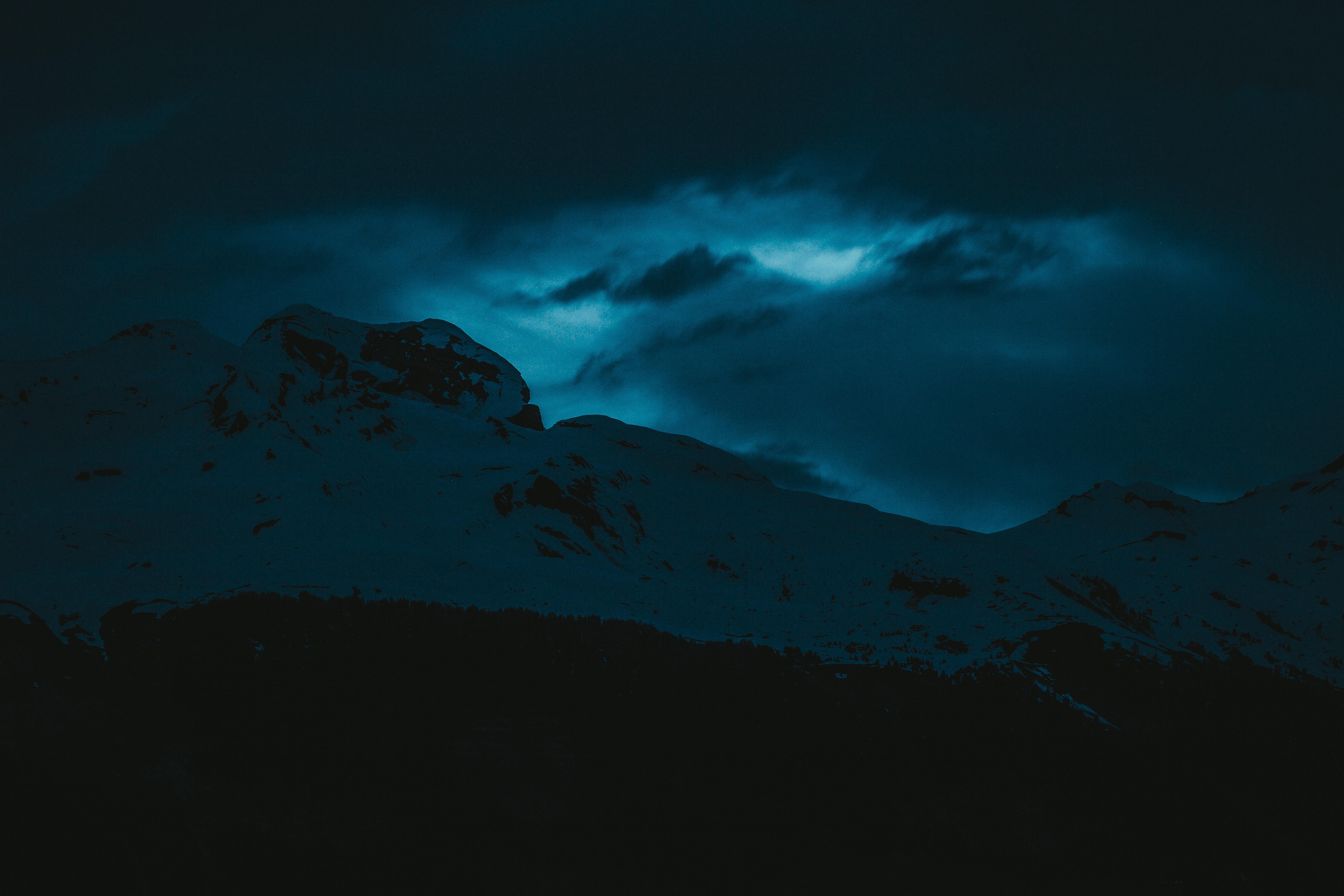 dark evening snow covered mountains 1574937669 - Dark Evening Snow Covered Mountains -