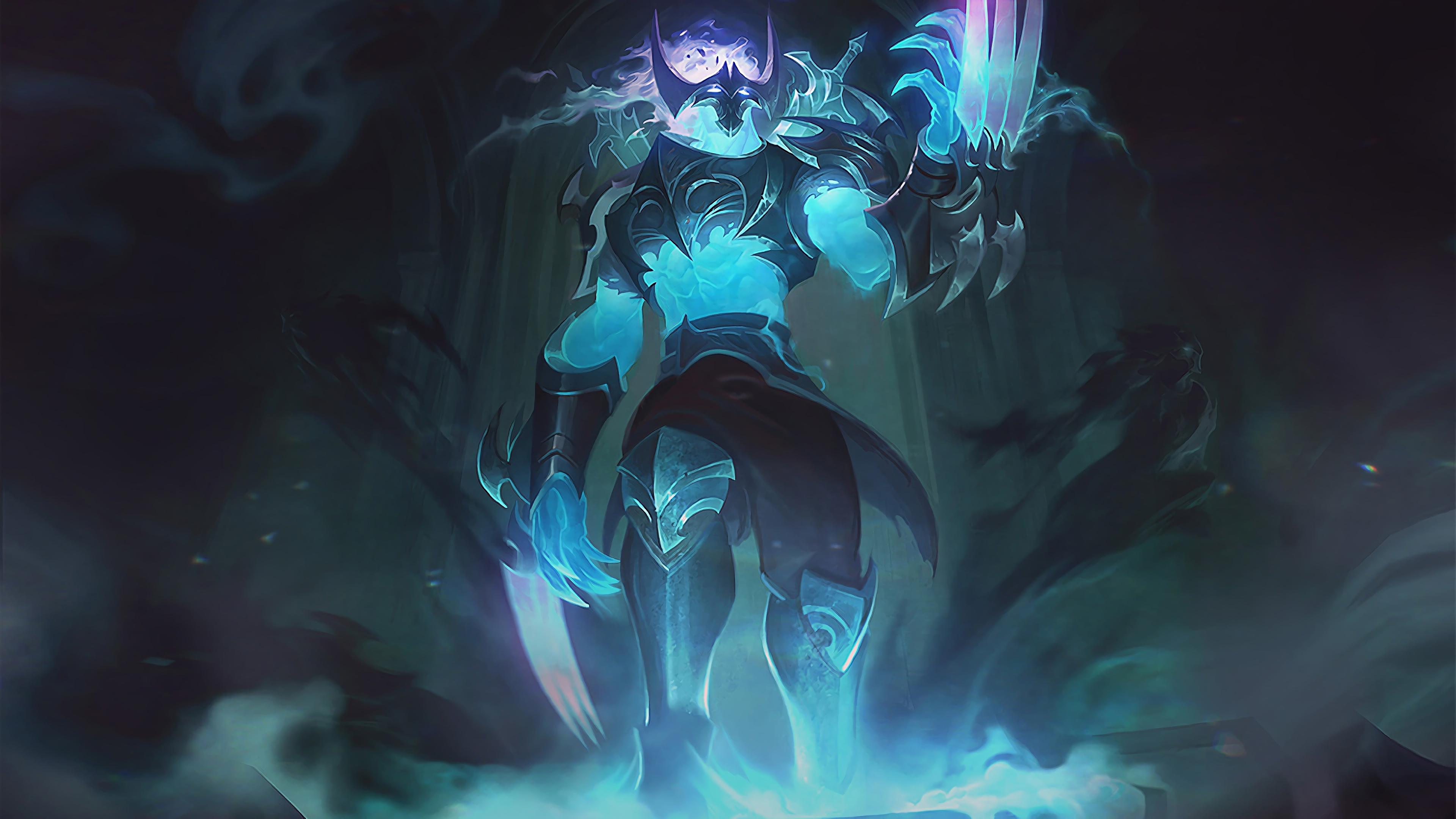 Wallpaper 4k Death Sworn Zed Lol Splash Art League Of Legends League Of Legends Zed