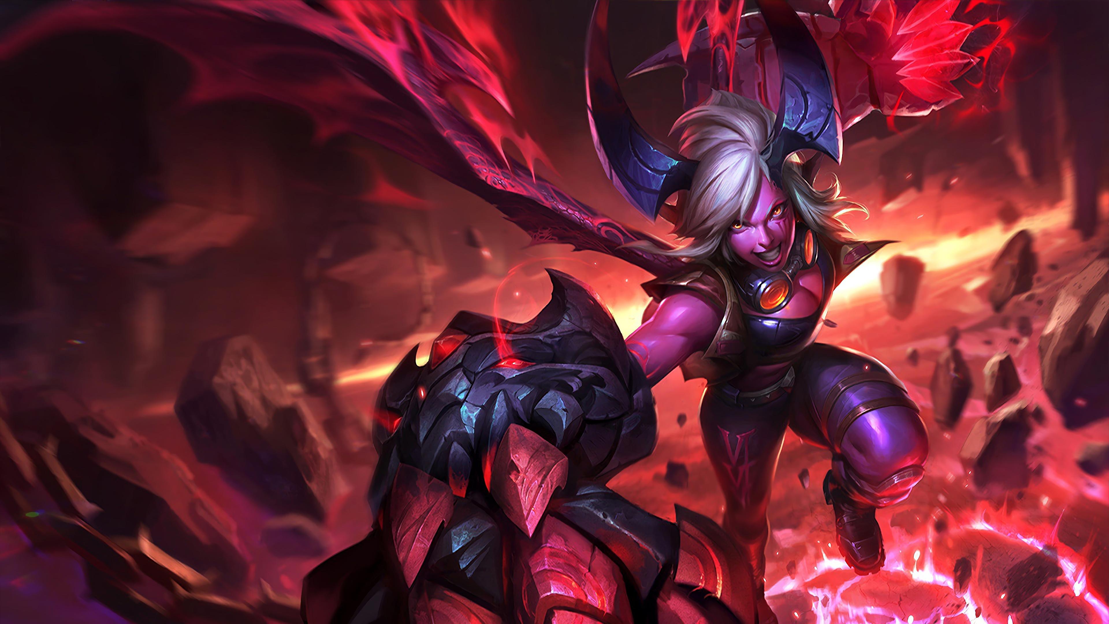 demon vi lol splash art league of legends 1574099723 - Demon Vi LoL Splash Art League of Legends - Vi, league of legends