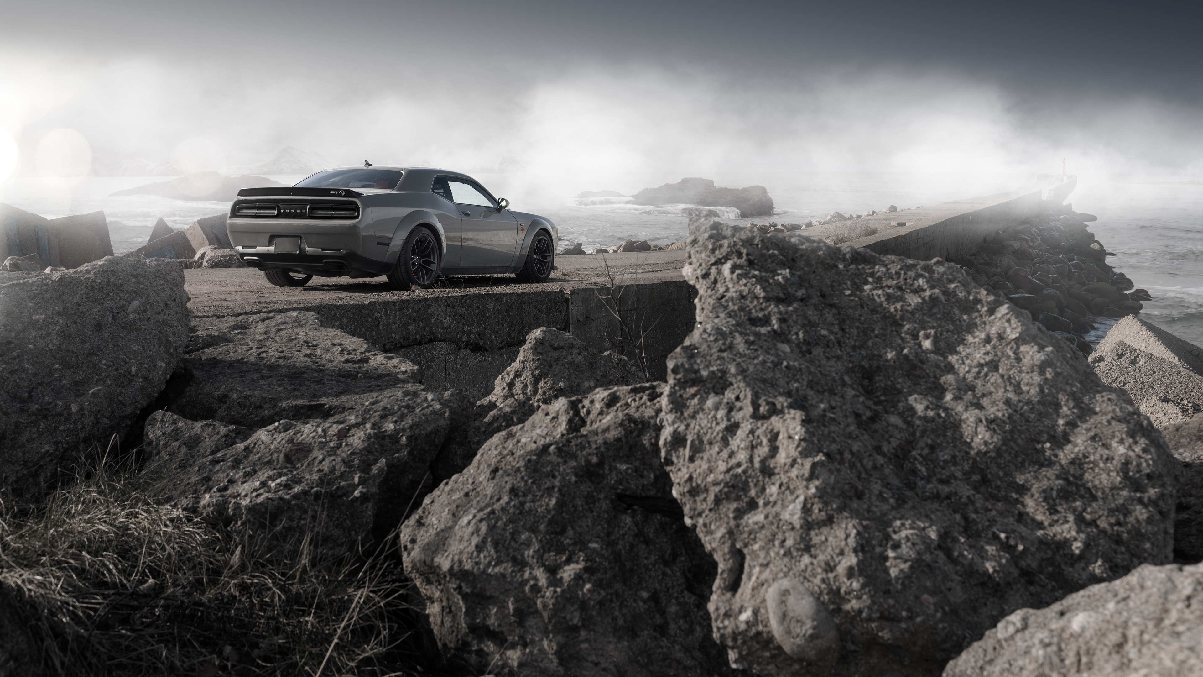 dodge challenger demon srt rear 1572661087 - Dodge Challenger Demon SRT Rear - hd-wallpapers, dodge challenger wallpapers, cars wallpapers, behance wallpapers, 4k-wallpapers