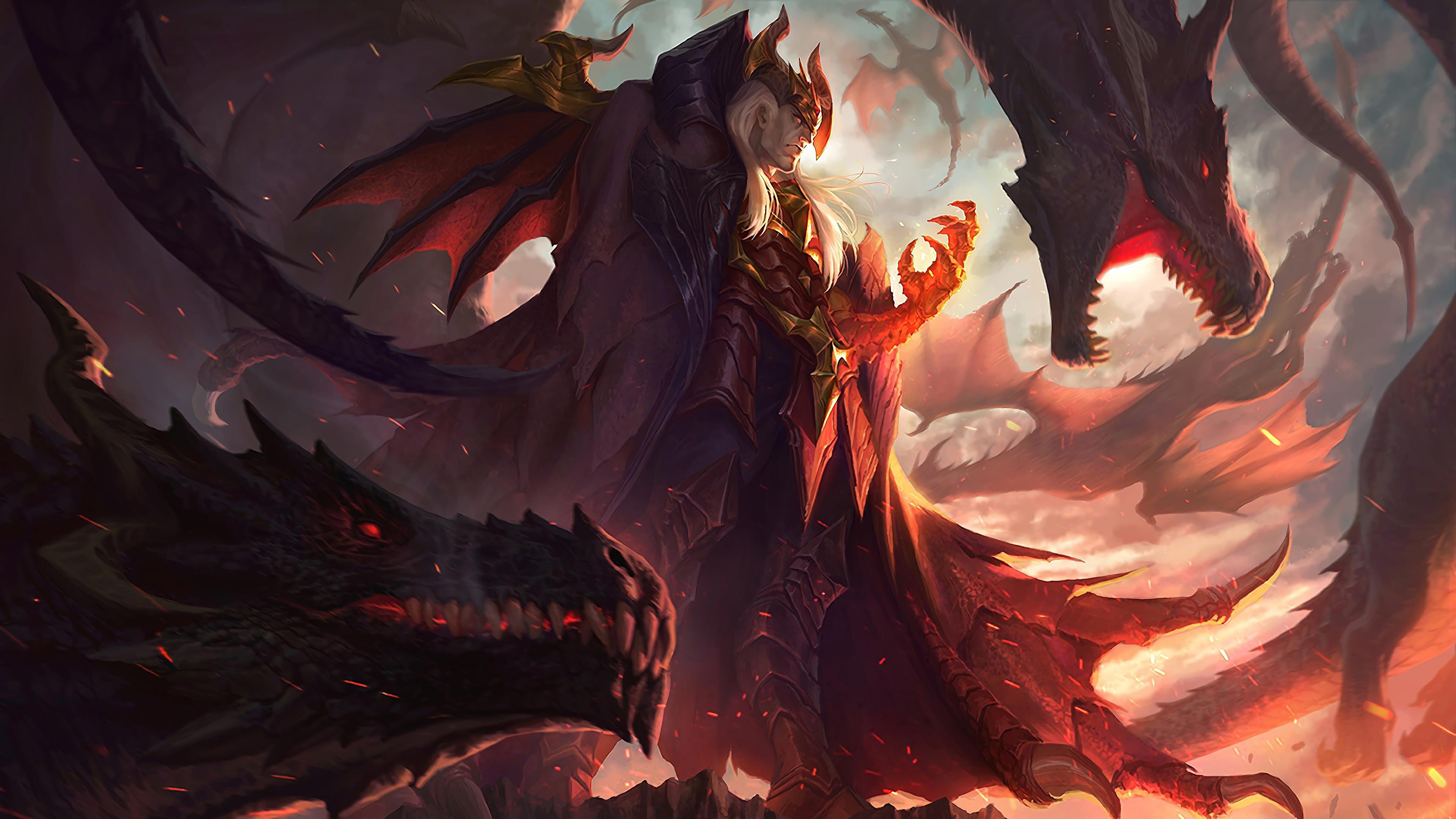 dragon master swain lol splash art league of legends lol 1574102850 - Dragon Master Swain LoL Splash Art League of Legends lol - Swain, league of legends