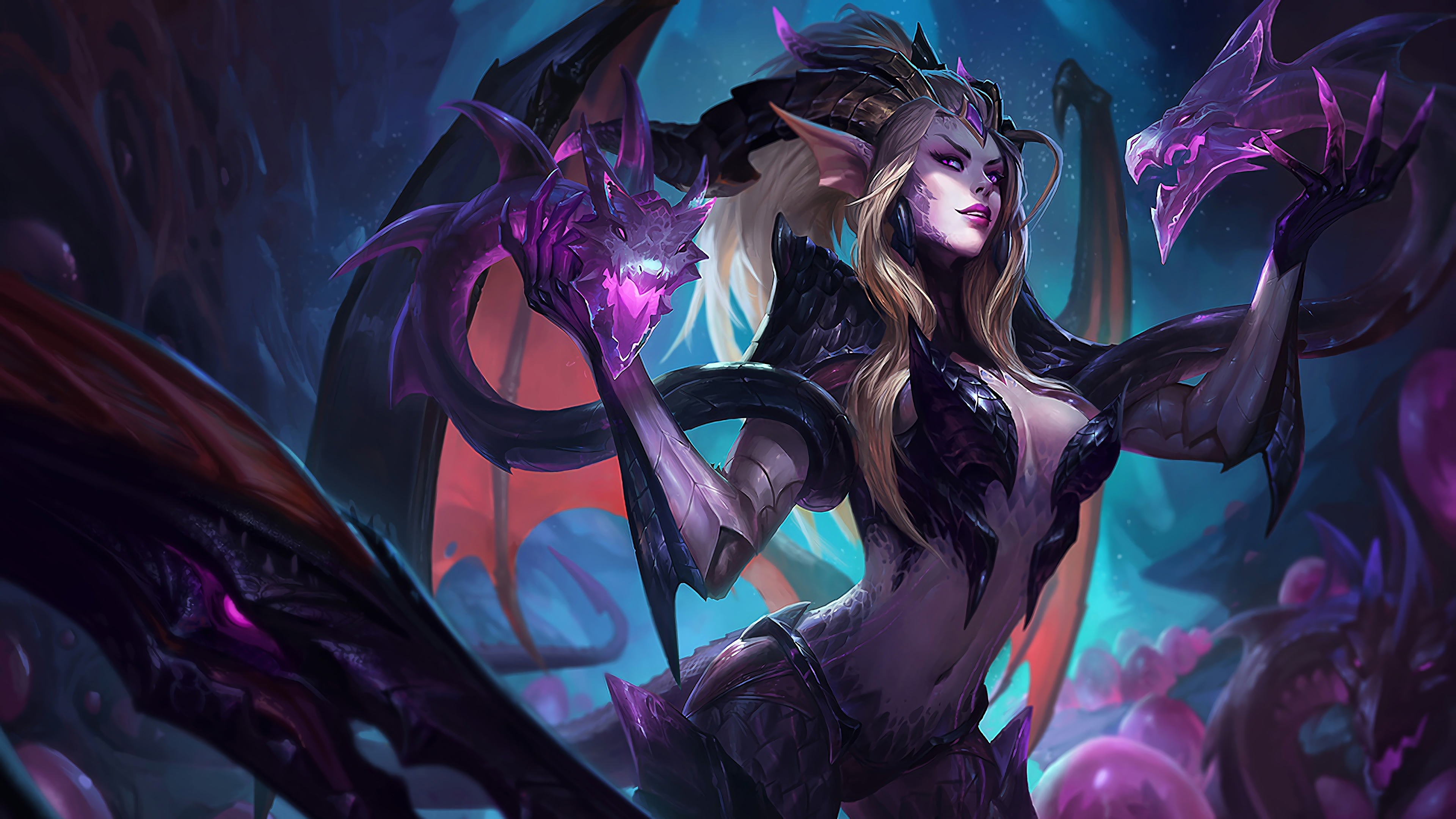 dragon sorceress zyra lol splash art league of legends 1574097830 - Dragon Sorceress Zyra LoL Splash Art League of Legends - Zyra, league of legends