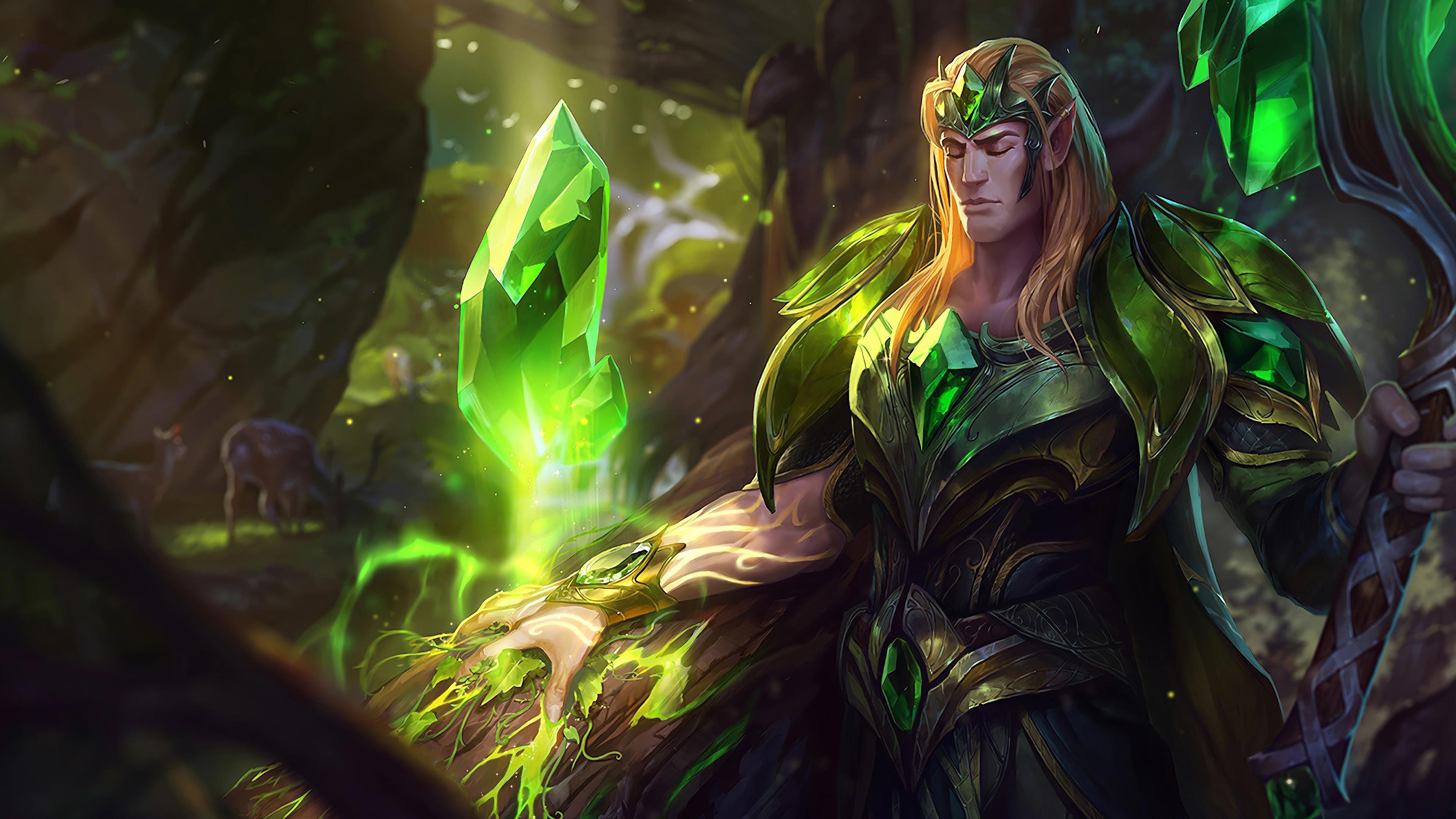 emerald taric lol splash art league of legends 1574100632 - Emerald Taric LoL Splash Art League of Legends - Taric, league of legends