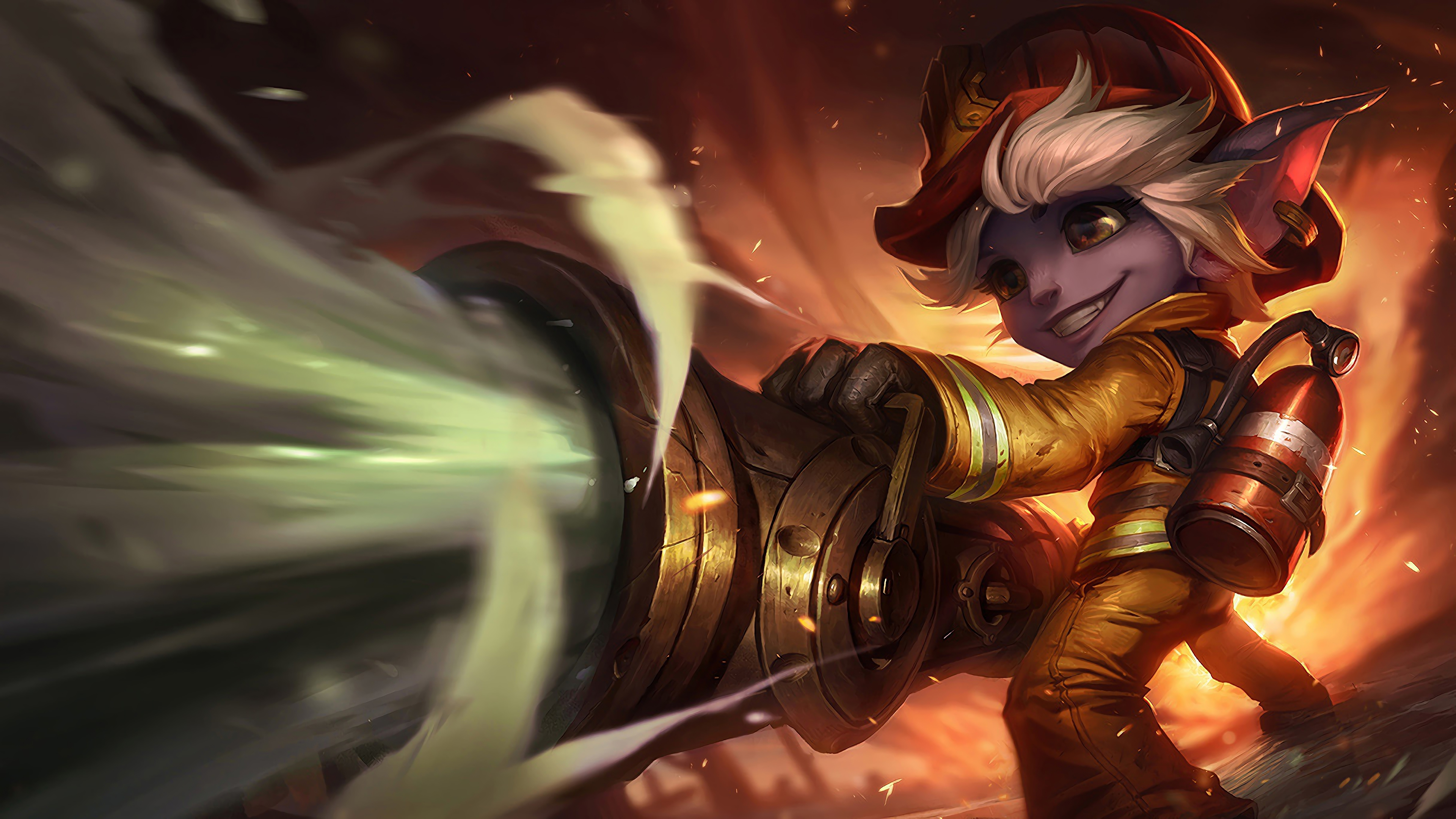firefighter tristana lol splash art 1574097622 - Firefighter Tristana LoL Splash Art - Tristana, league of legends