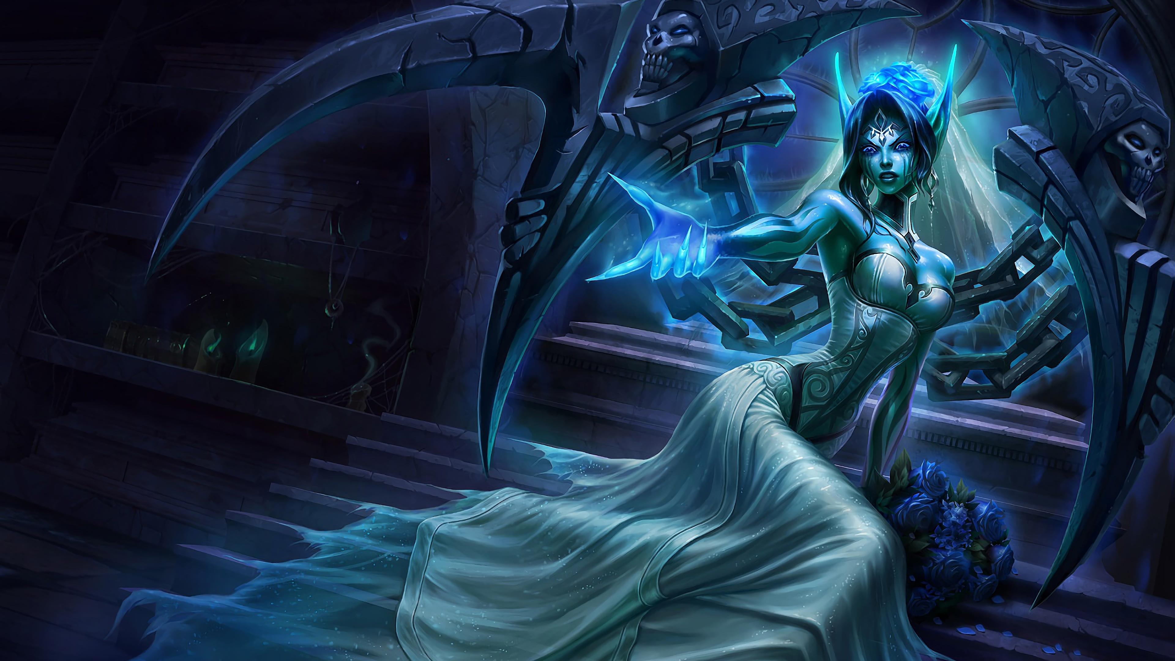 ghost bride morgana lol splash art league of legends 1574098200 - Ghost Bride Morgana LoL Splash Art League of Legends - Morgana, league of legends