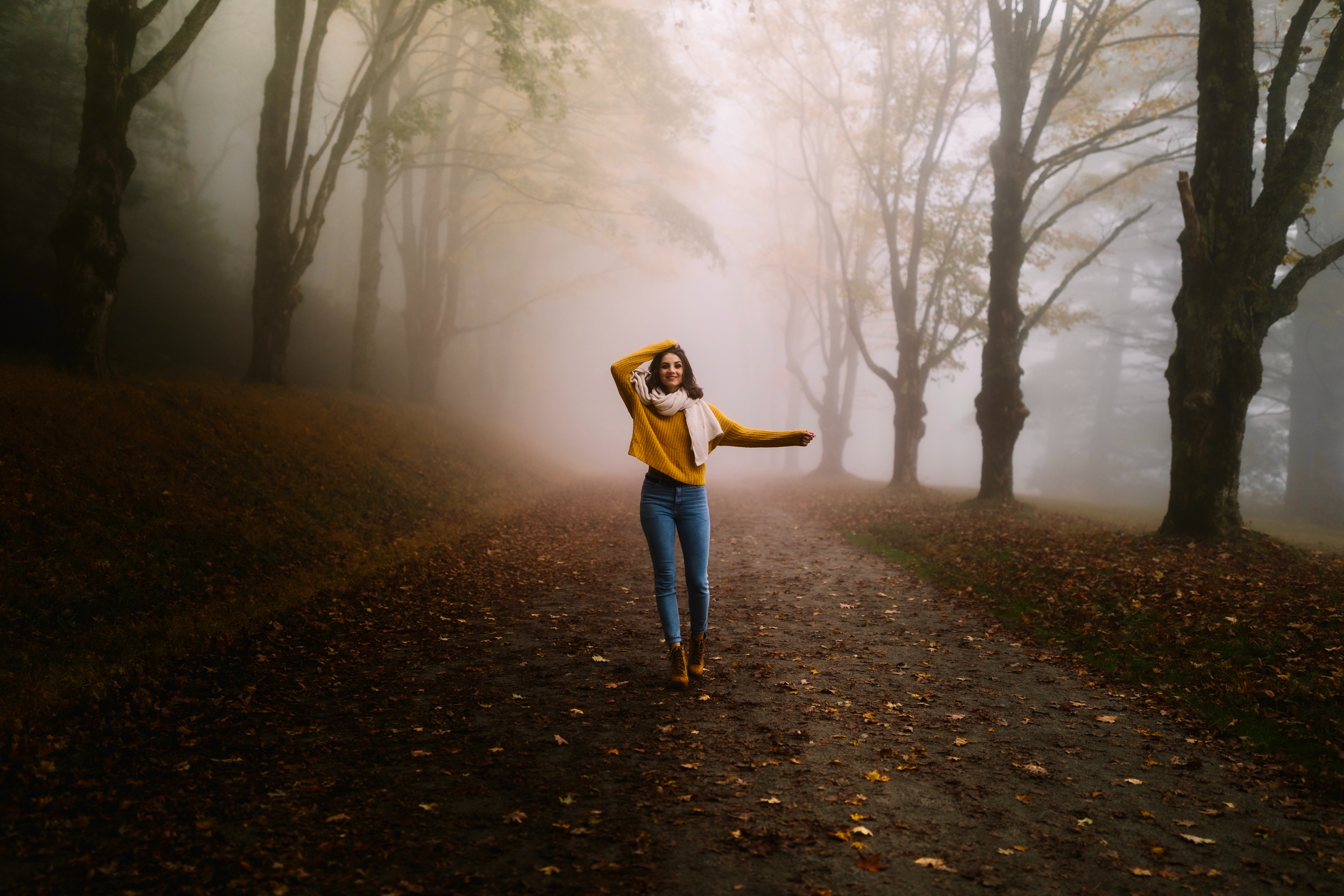 girl winter alone road fog 1574938641 - Girl Winter Alone Road Fog -