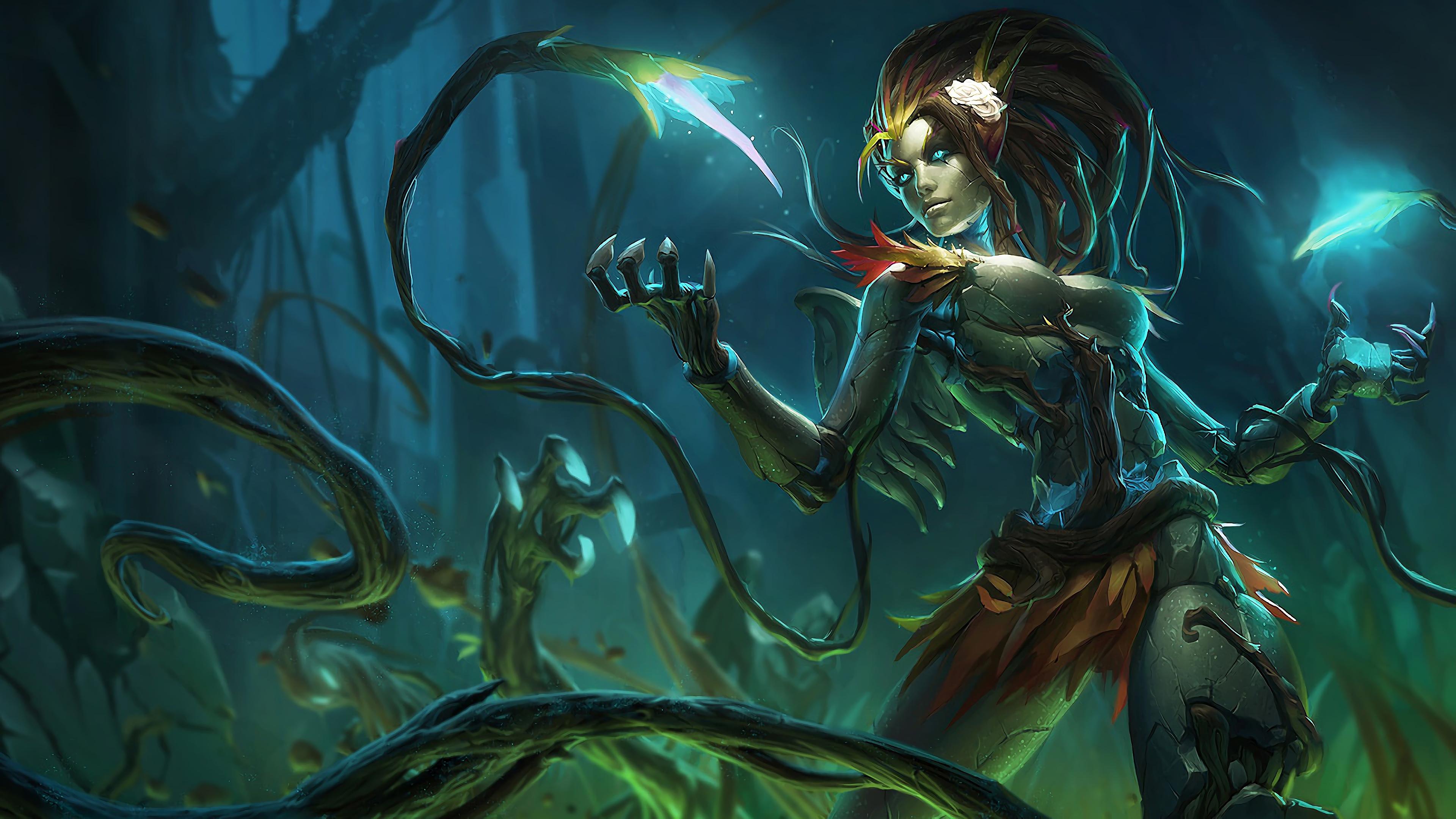 haunted zyra lol splash art league of legends 1574098006 - Haunted Zyra LoL Splash Art League of Legends - Zyra, league of legends