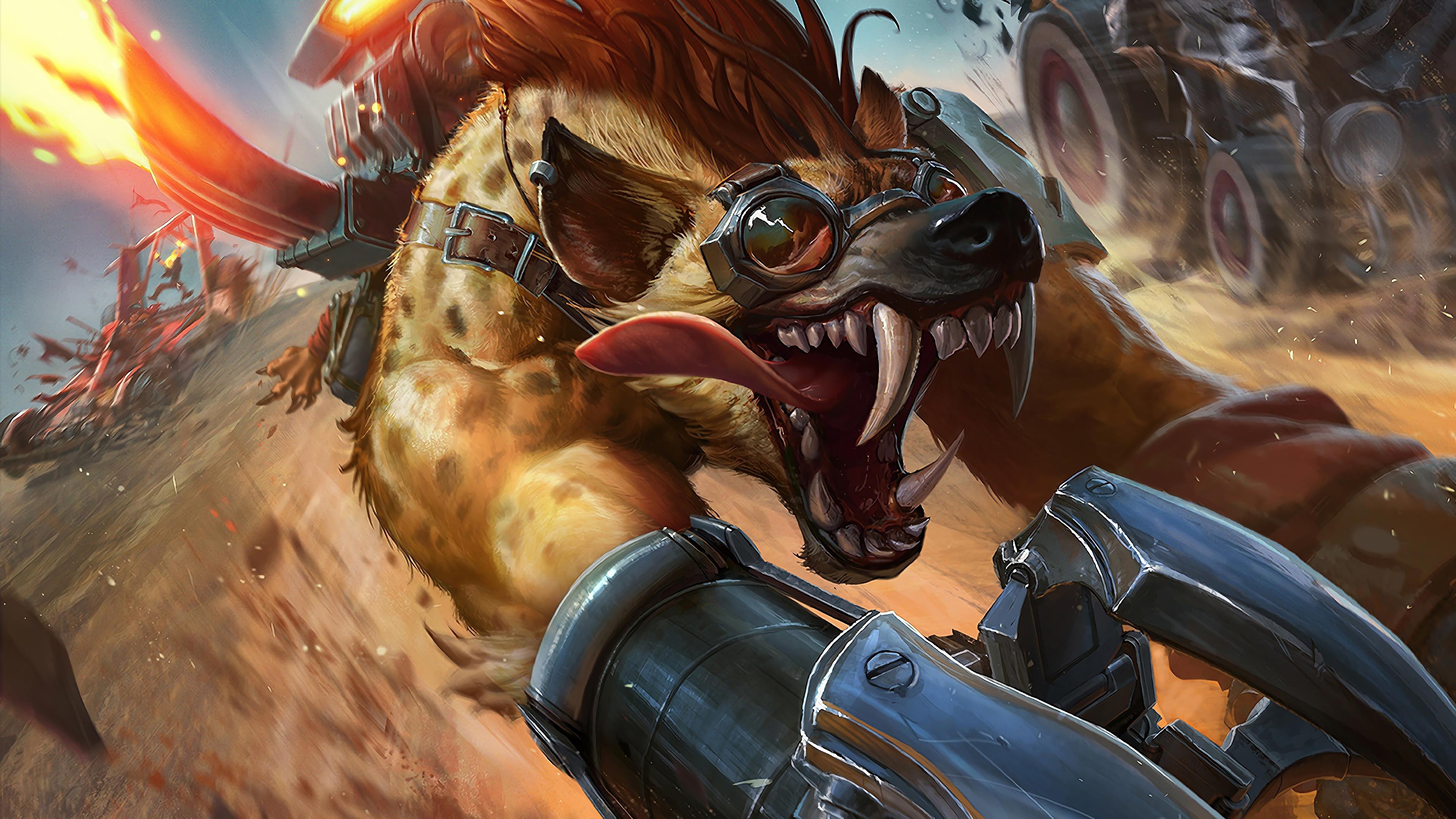 hyena warwick lol splash art league of legends lol 1574102707 - Hyena Warwick LoL Splash Art League of Legends lol - Warwick, league of legends