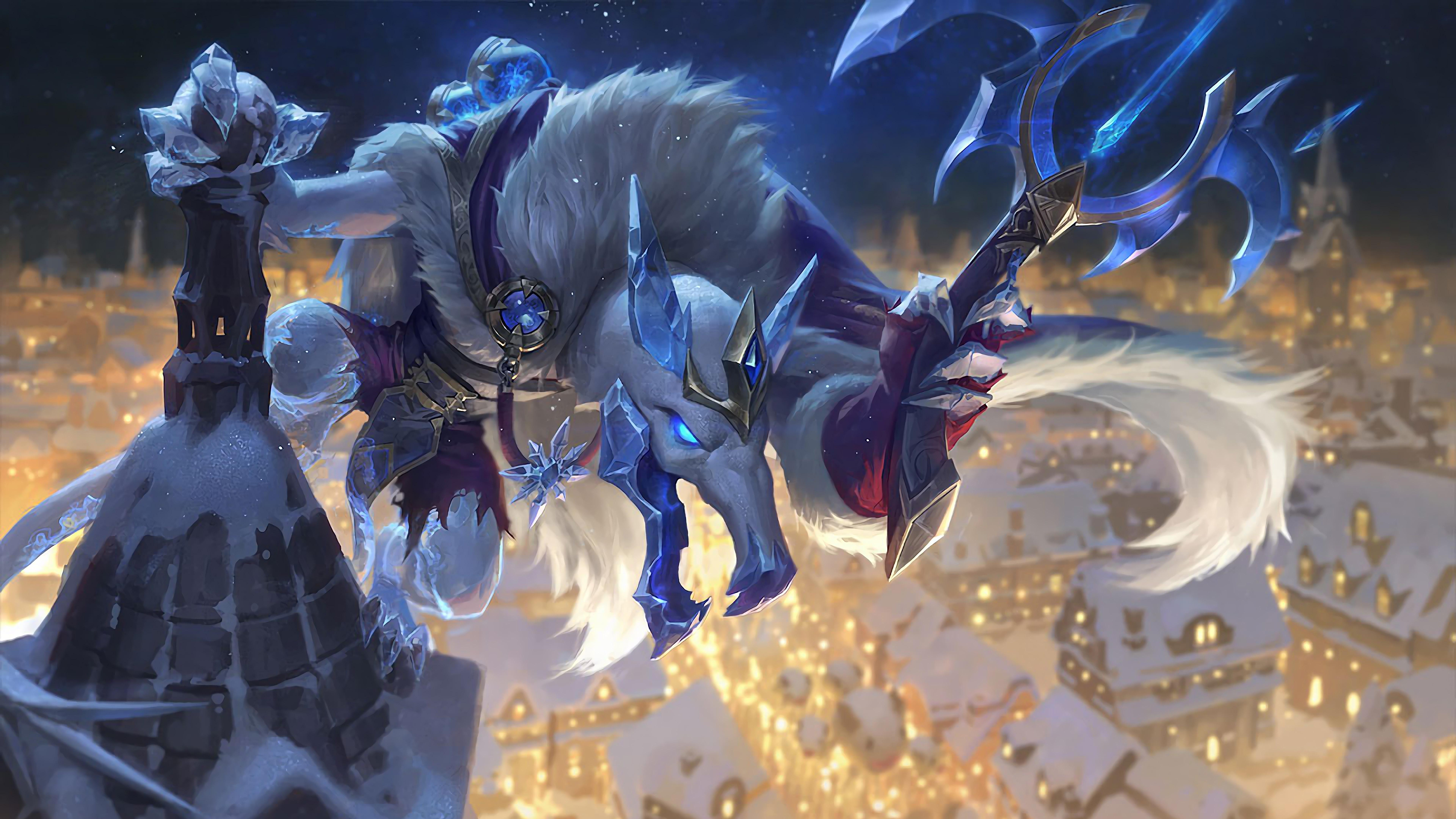 Wallpaper 4k Ice King Twitch Lol Splash Art Skin League Of Legends Lol League Of Legends Snowdown League Of Legends Twitch