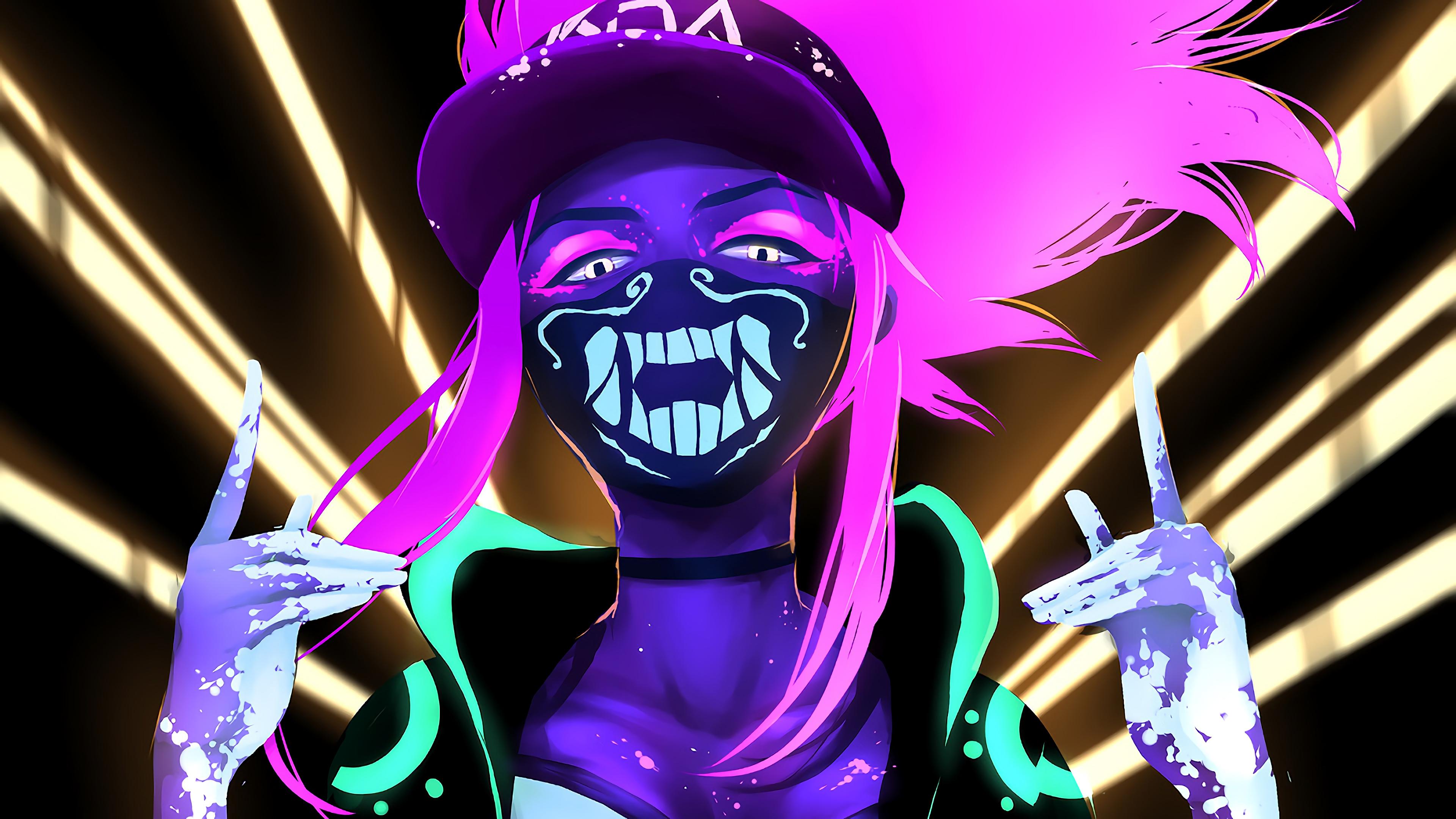 k da akali mask neon lol league of legends lol 1574105101 - K/DA Akali Mask Neon LoL League of Legends lol - league of legends, K/DA Akali, K/DA - League of Legends, Akali