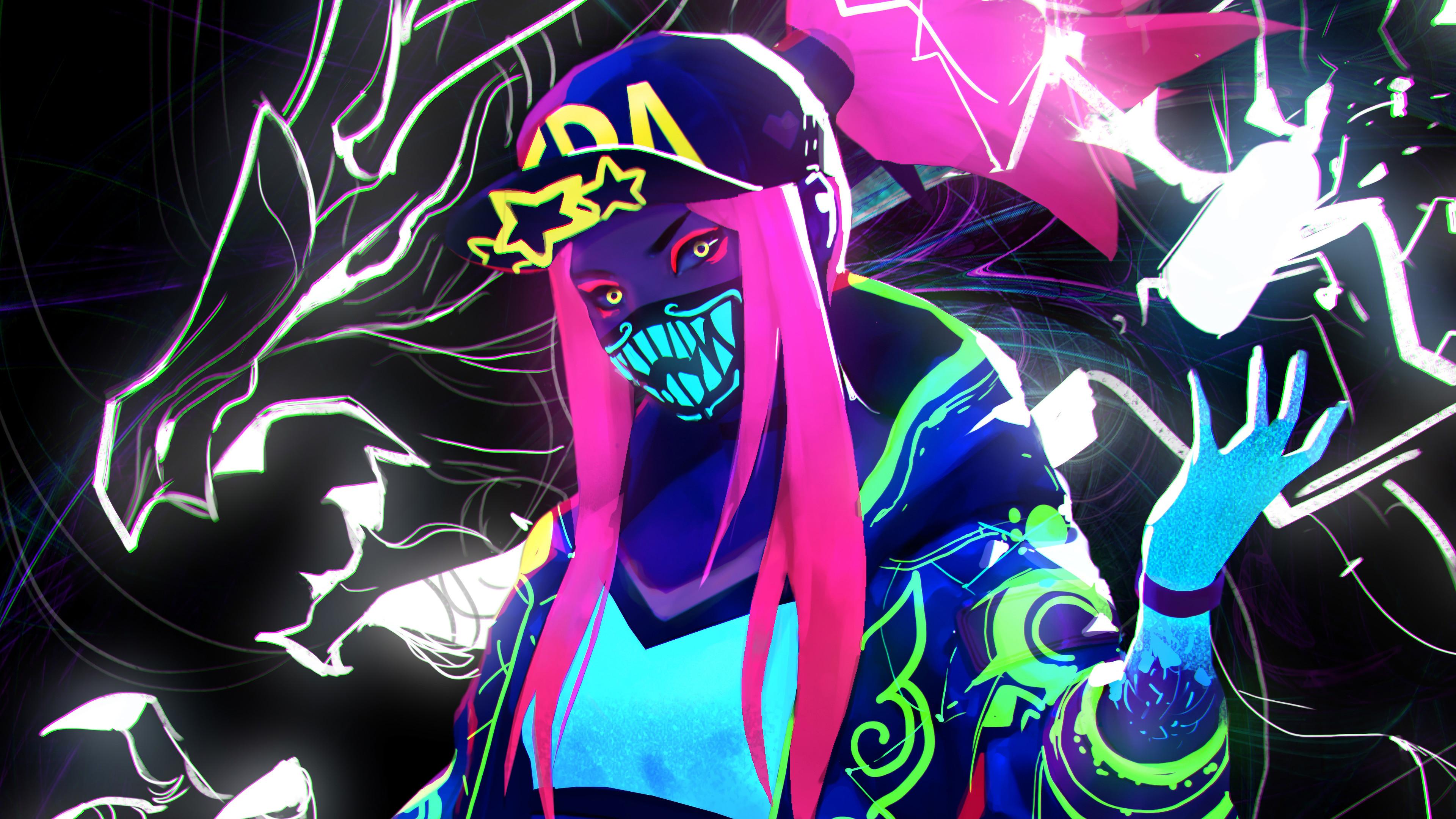 k da neon akali league of legends lol lol 1574104713 - K/DA Neon Akali League Of Legends LoL lol - league of legends, K/DA Akali, K/DA - League of Legends, Akali