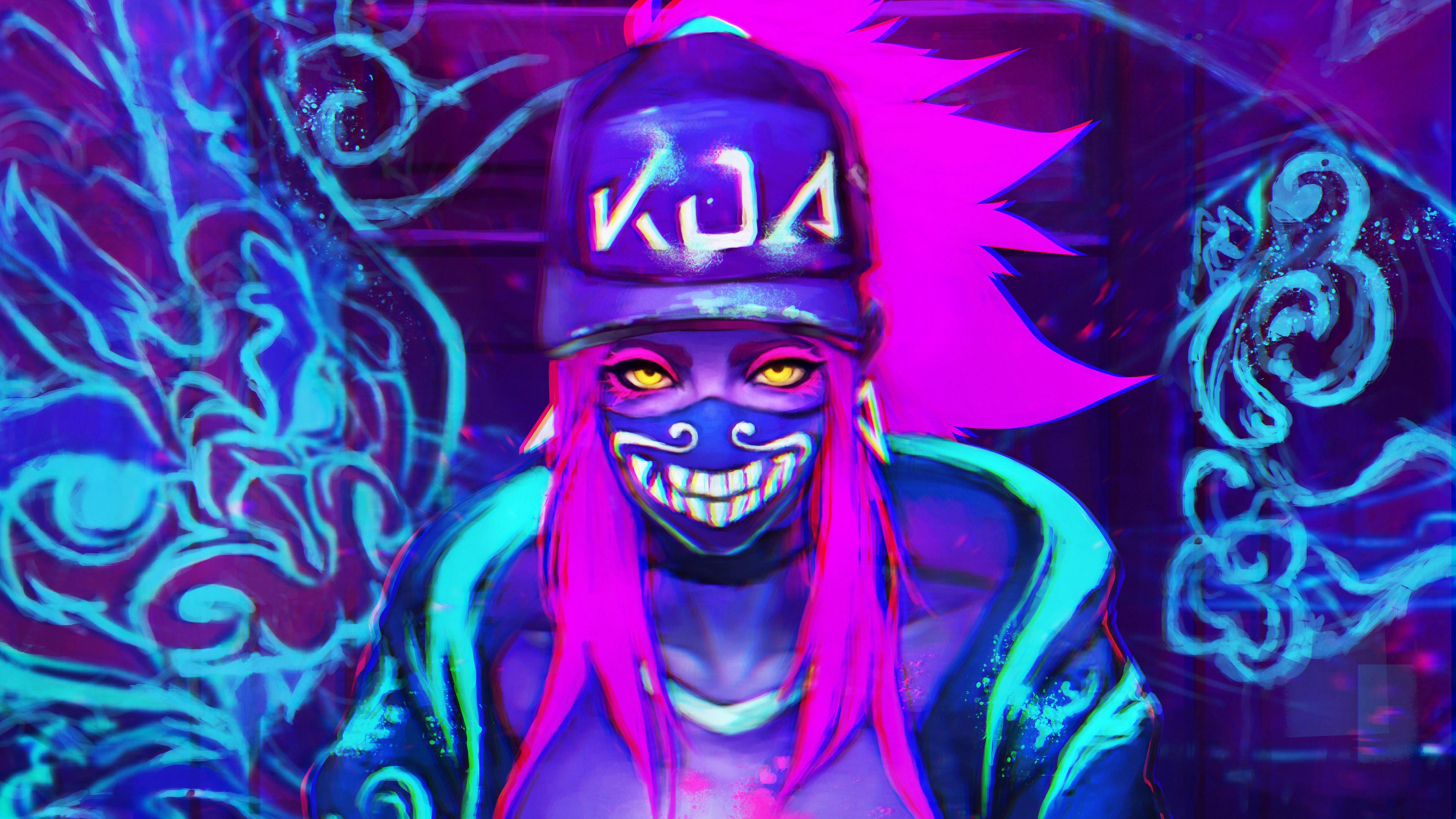k da neon akali league of legends lol lol 1574104748 - K/DA Neon Akali League Of Legends LoL lol - league of legends, K/DA Akali, K/DA - League of Legends, Akali
