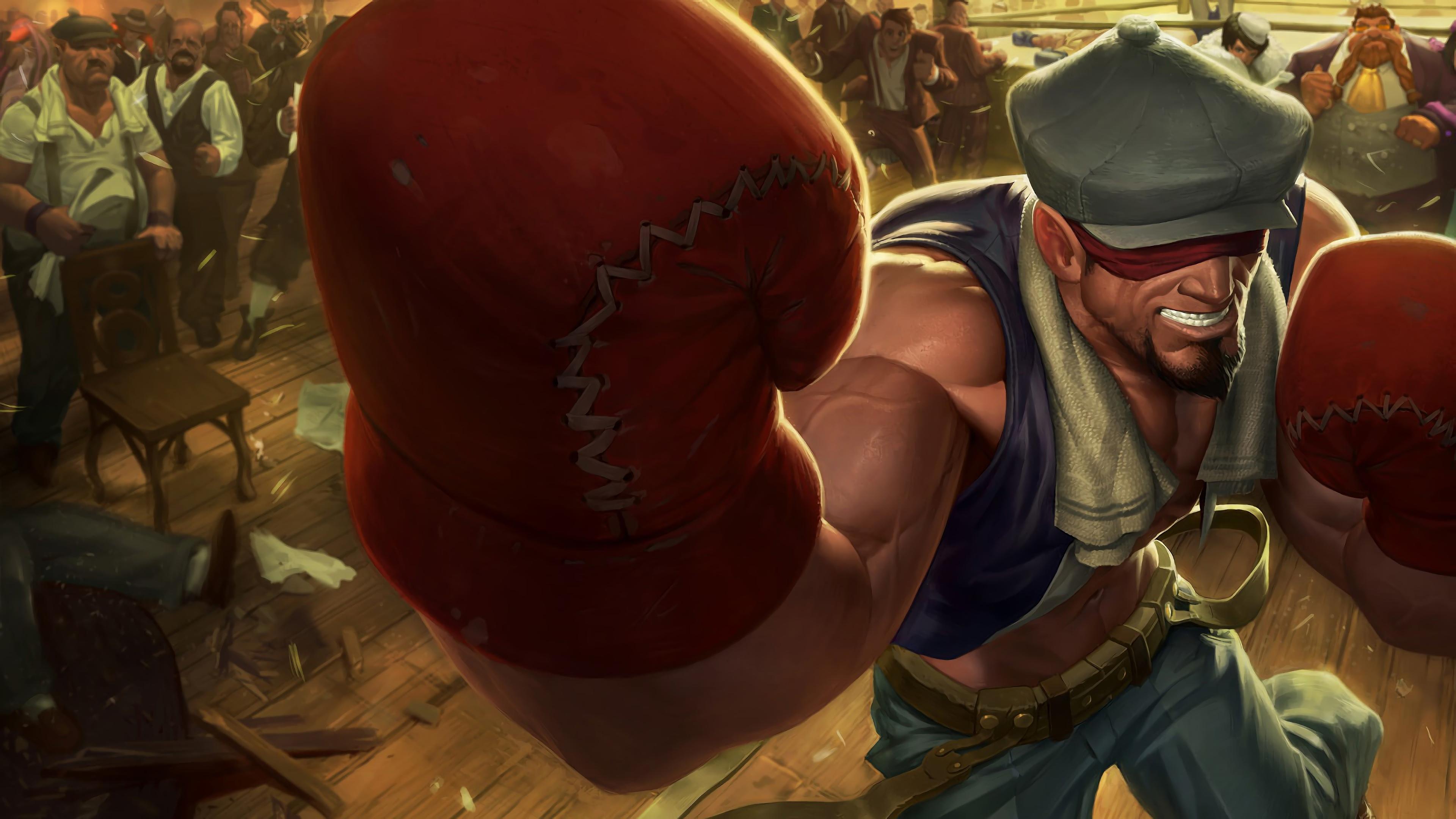 Wallpaper 4k Knockout Lee Sin Lol Splash Art League Of Legends Lol
