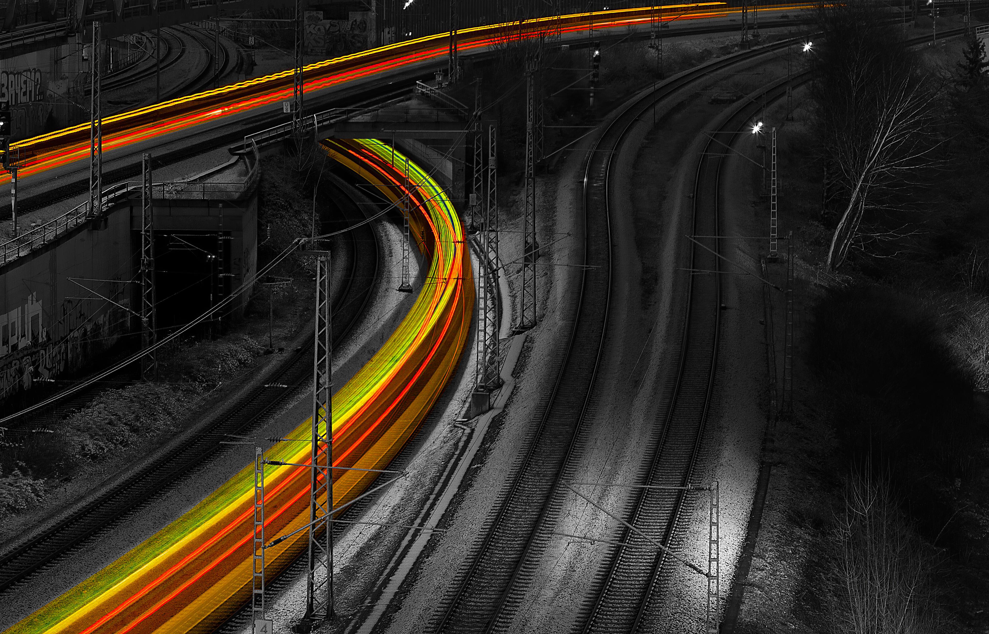 long exposure train tracks 1574938572 - Long Exposure Train Tracks -