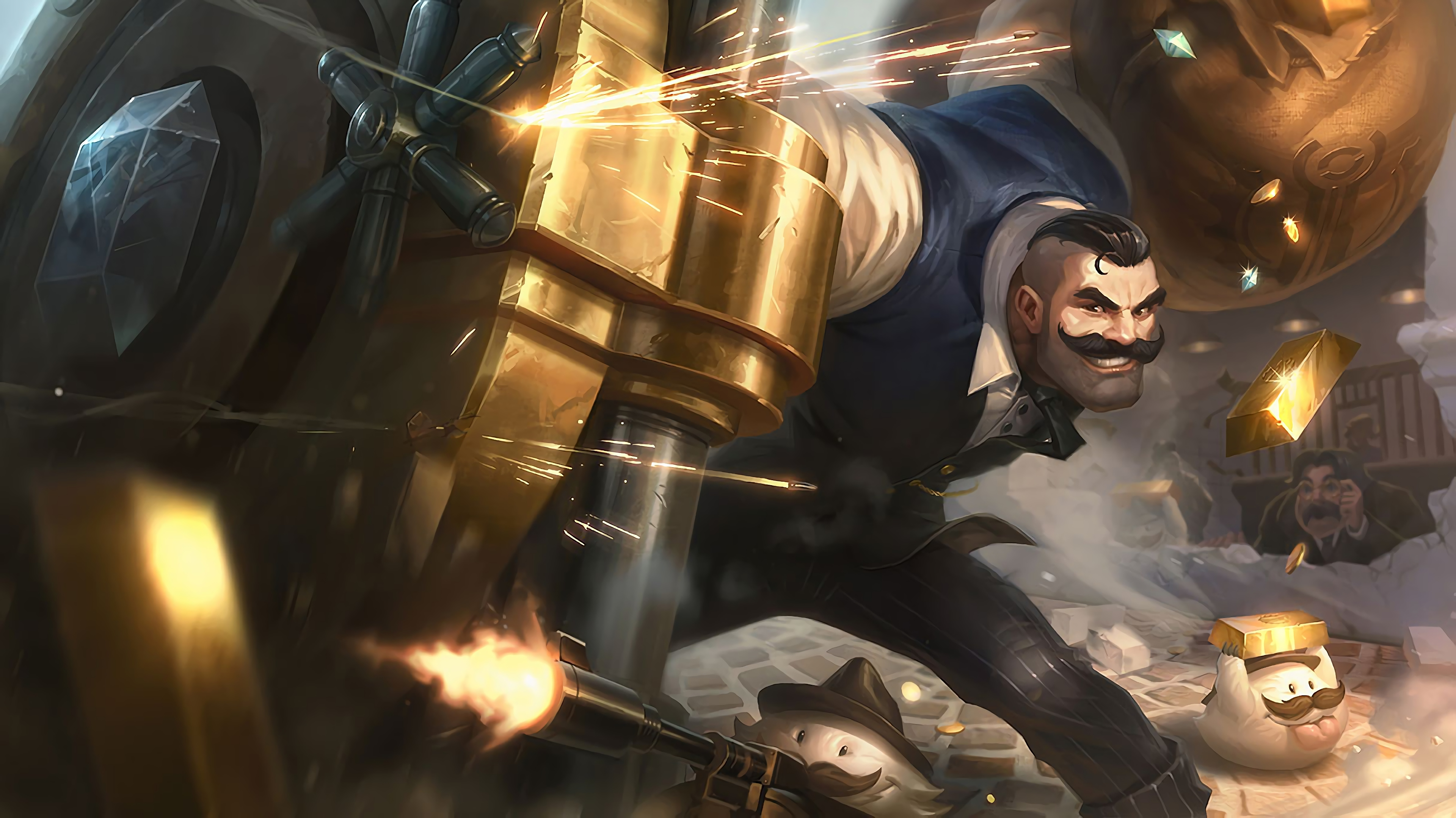mafia braum lol splash art league of legends lol 1574103882 - Mafia Braum LoL Splash Art League of Legends lol - league of legends, Braum