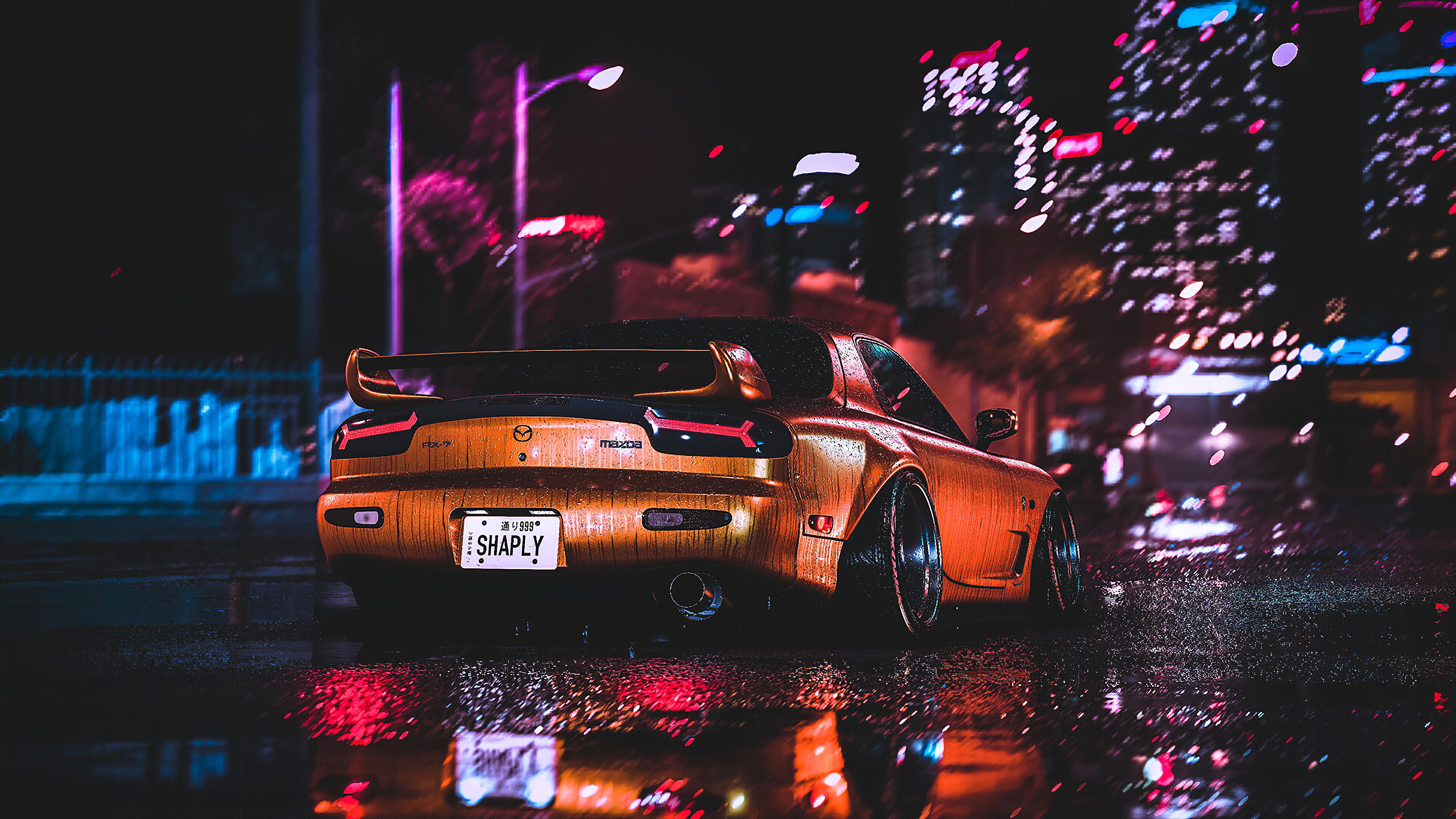 mazda rx7 city night lights 1572660967 - Mazda Rx7 City Night Lights - mazda wallpapers, mazda rx7 wallpapers, hd-wallpapers, cars wallpapers, artstation wallpapers, 4k-wallpapers