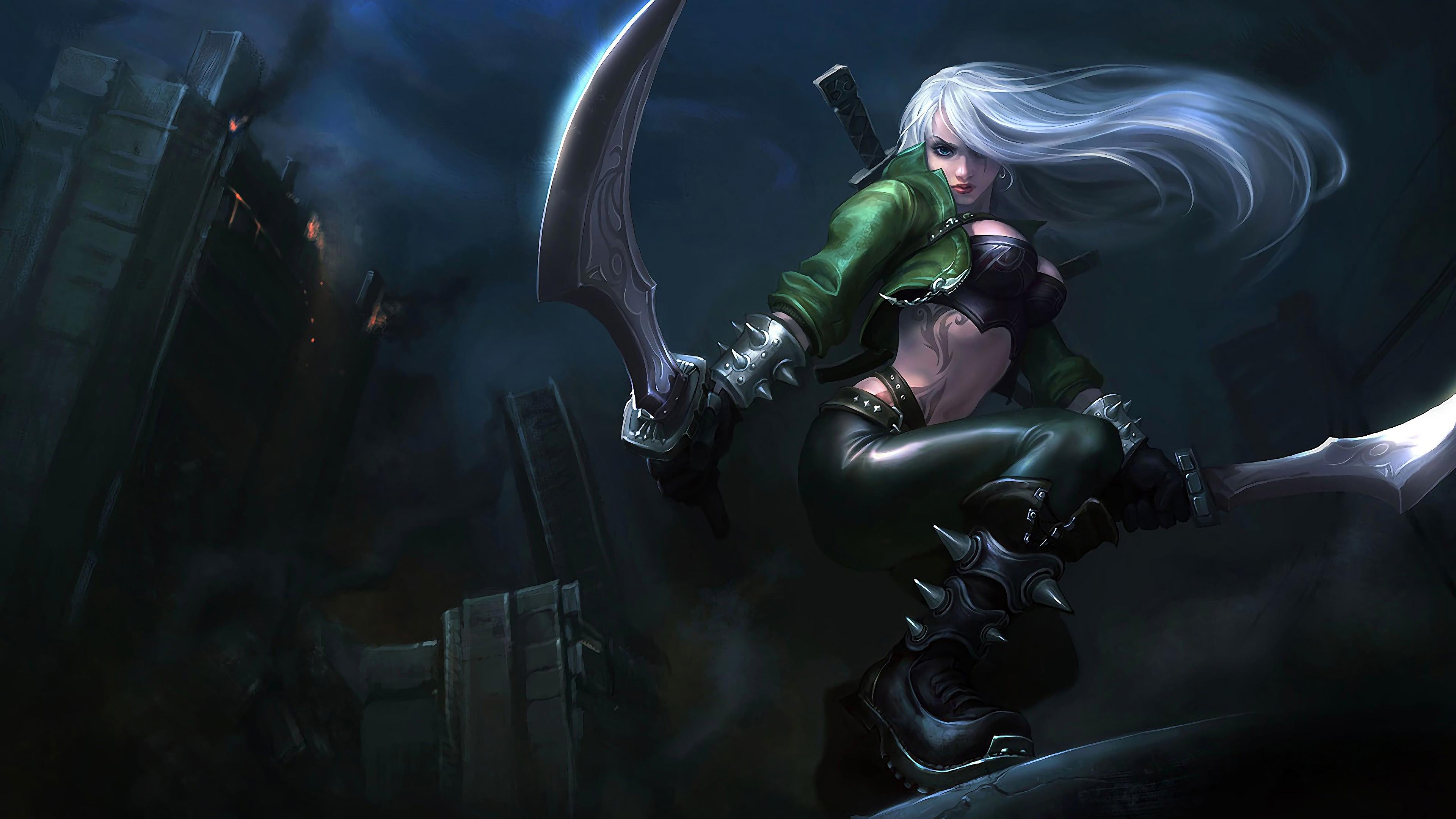 Wallpaper 4k Mercenary Katarina Lol Splash Art League Of Legends