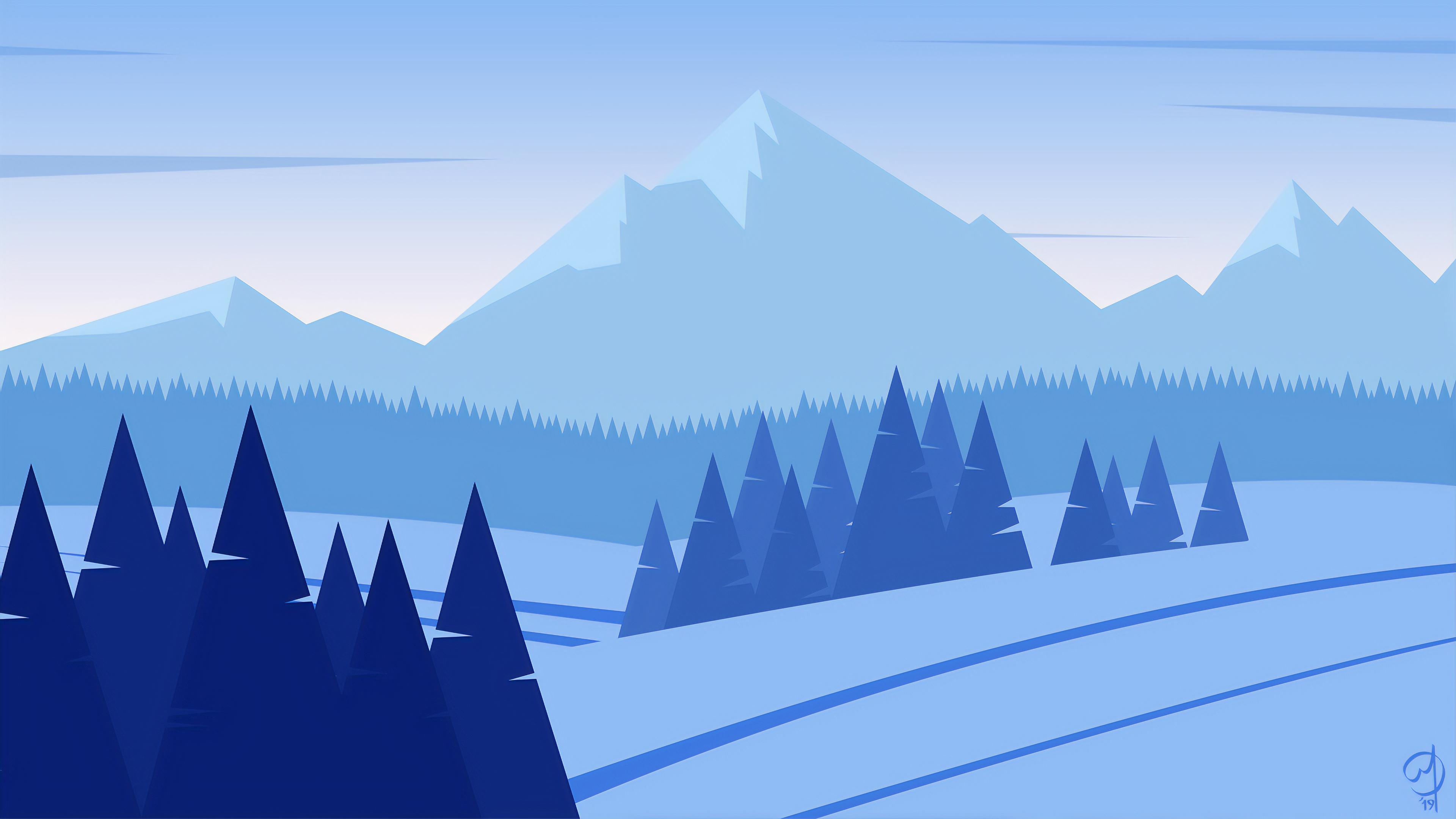 minimalist mountains snow 1574939640 - Minimalist Mountains Snow -