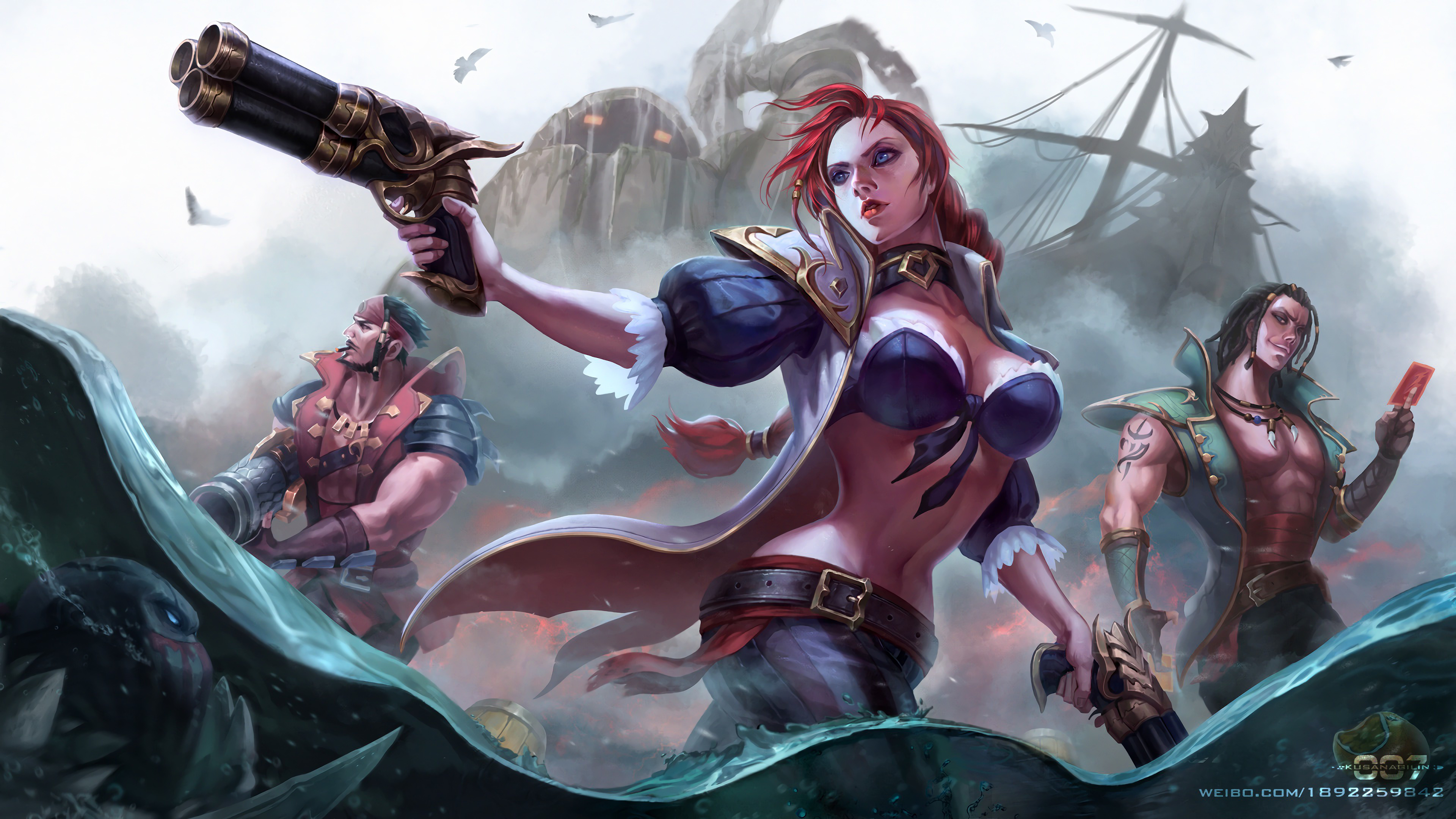 Wallpaper 4k Miss Fortune Pyke Graves Twisted Fate And Nautilus