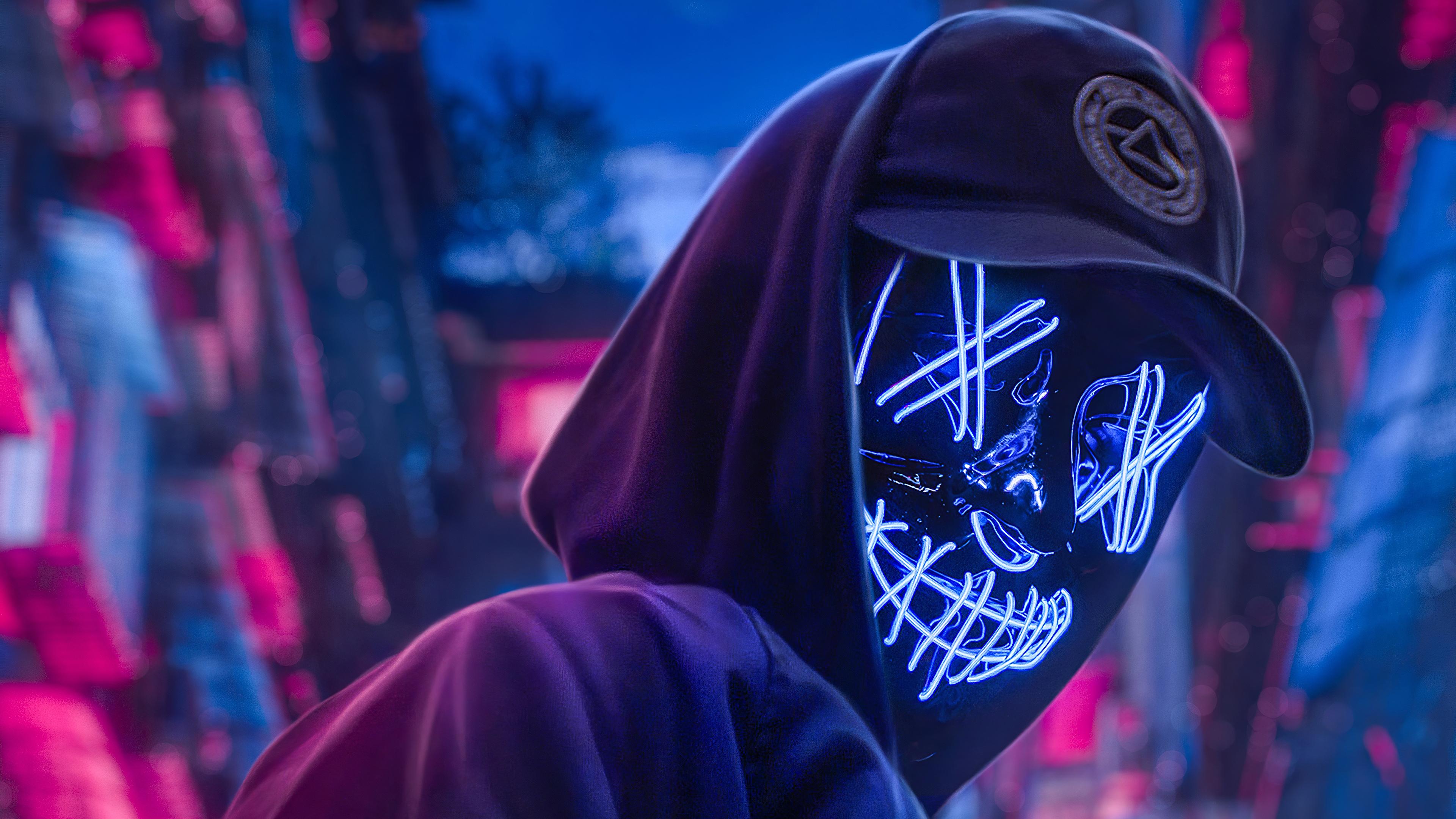 Neon Hoodie Hat Guy