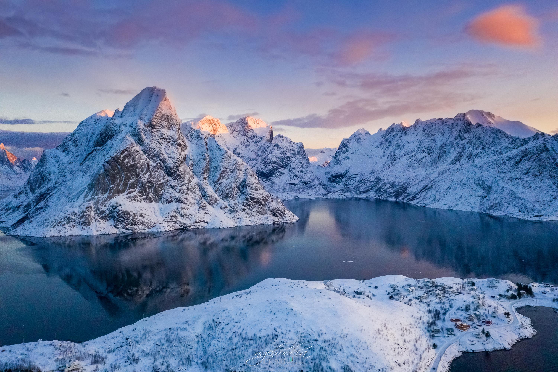 norway lofoten mountains winter bay snow 1574939593 - Norway Lofoten Mountains Winter Bay Snow -