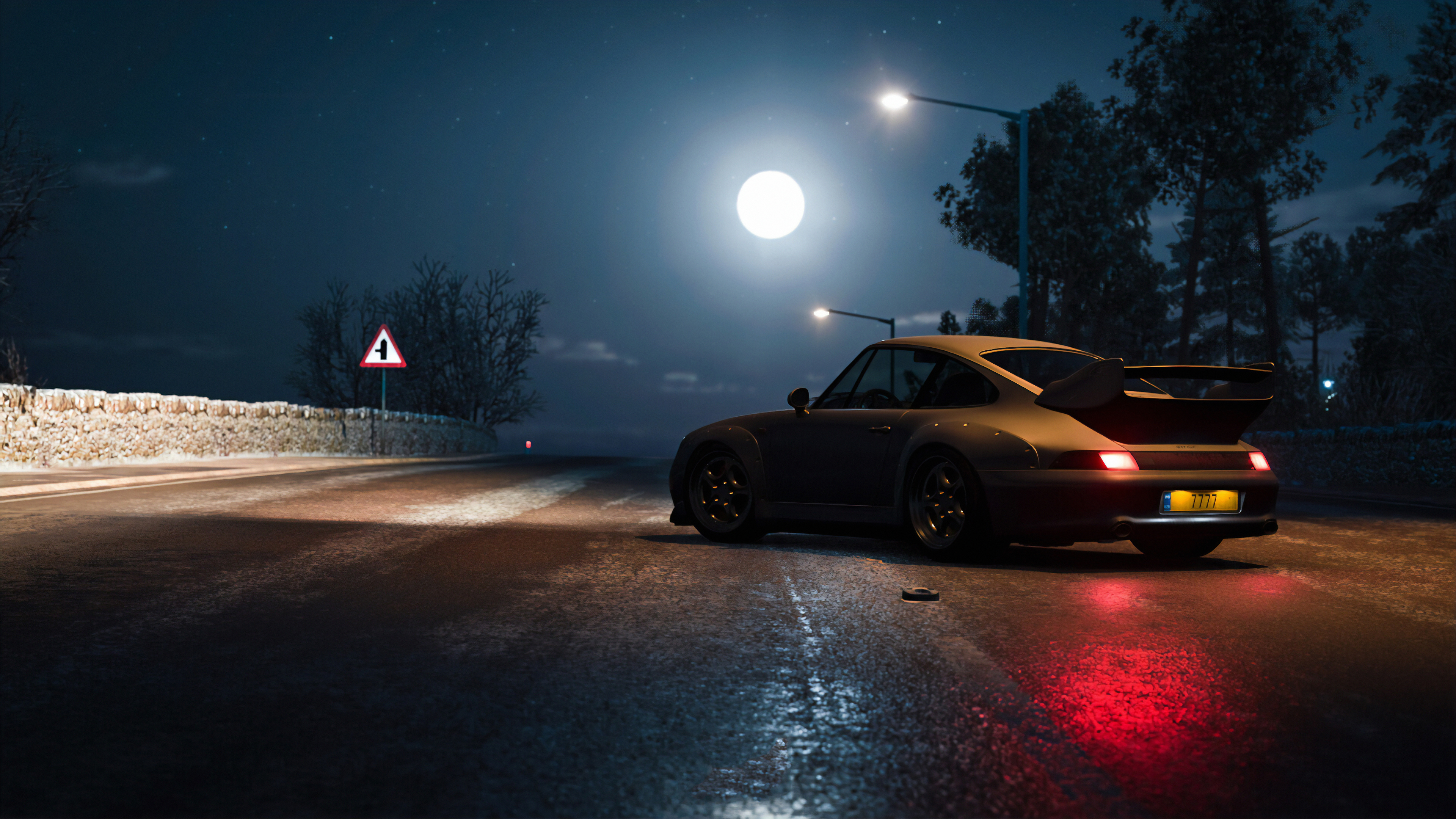 Wallpaper 4k Porsche At Night 4k Wallpapers Cars Wallpapers