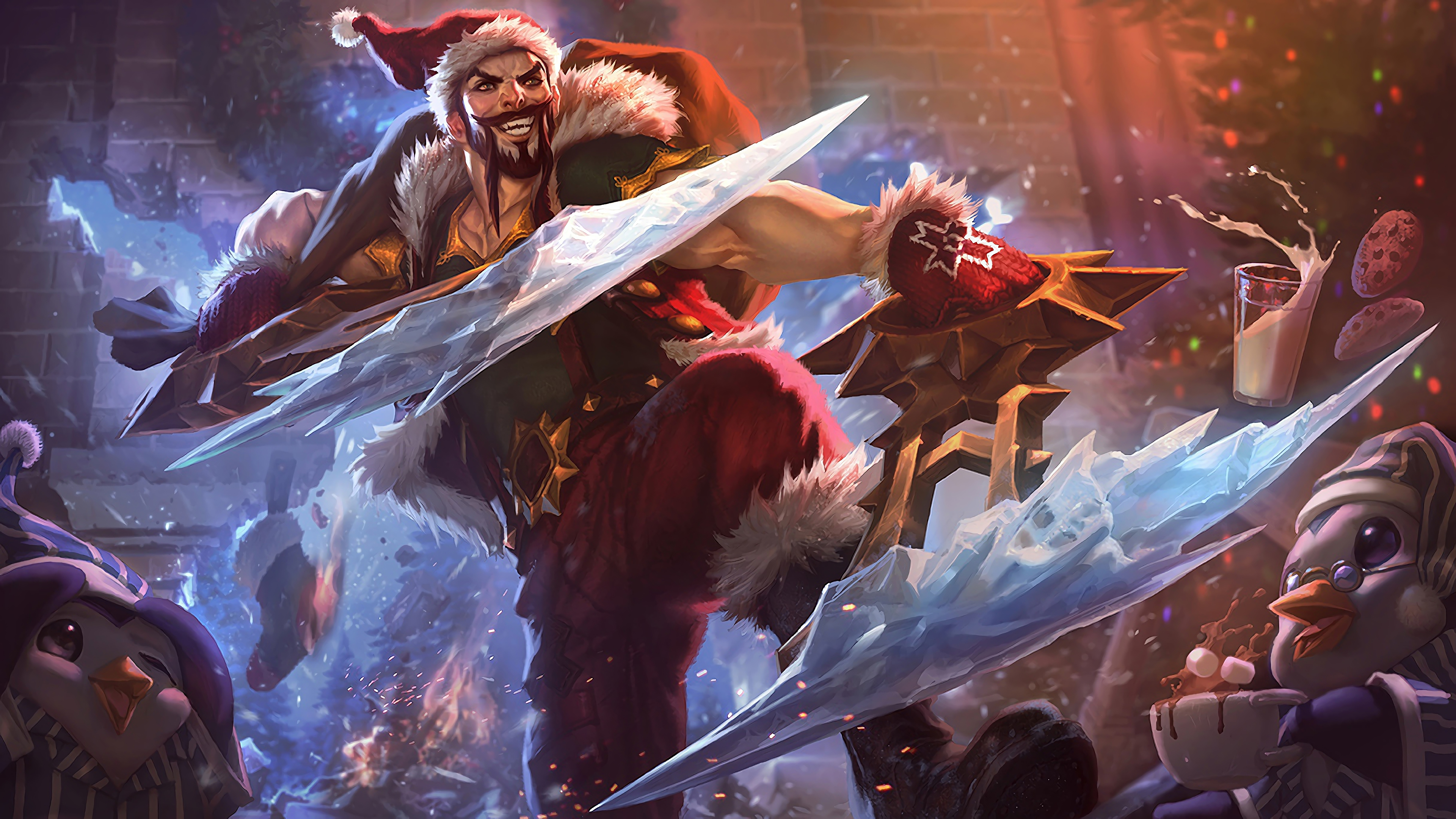 santa draven lol splash art league of legends lol 1574101714 - Santa Draven LoL Splash Art League of Legends lol - Snowdown - League of Legends, league of legends, Draven