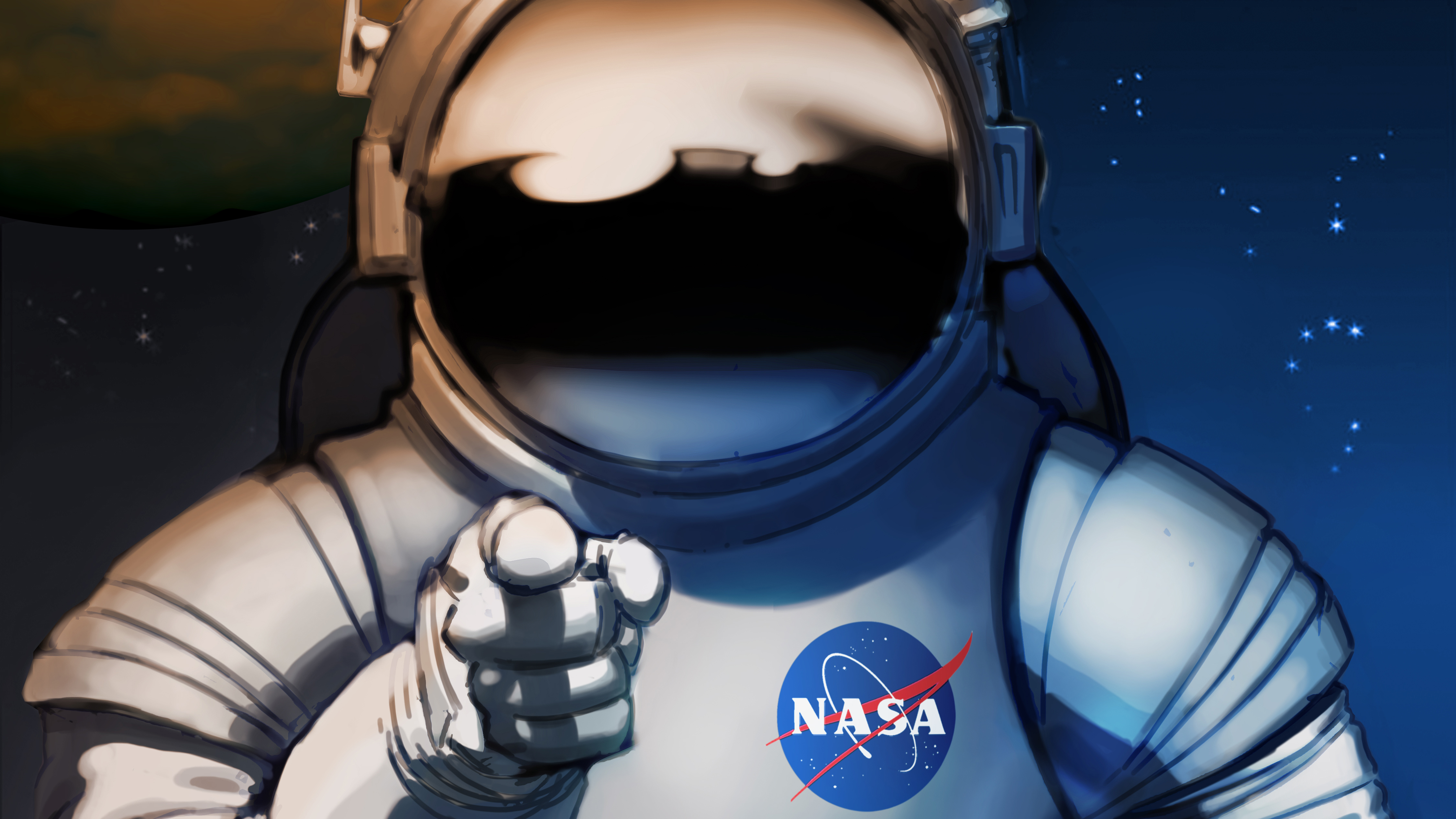 Wallpaper 4k Scifi Astronaut Space Man