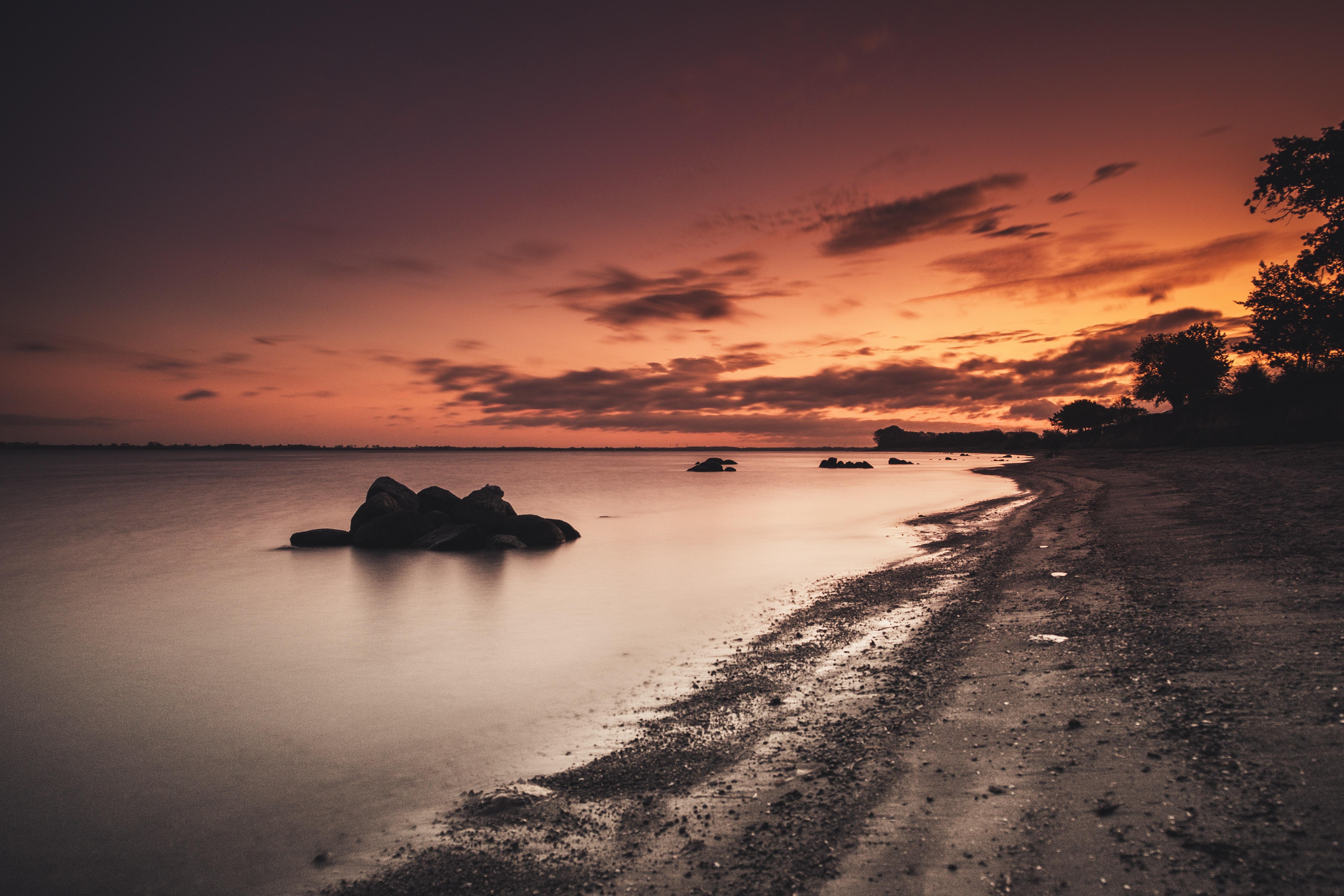 sea shore during golden hour 1574937886 - Sea Shore During Golden Hour -