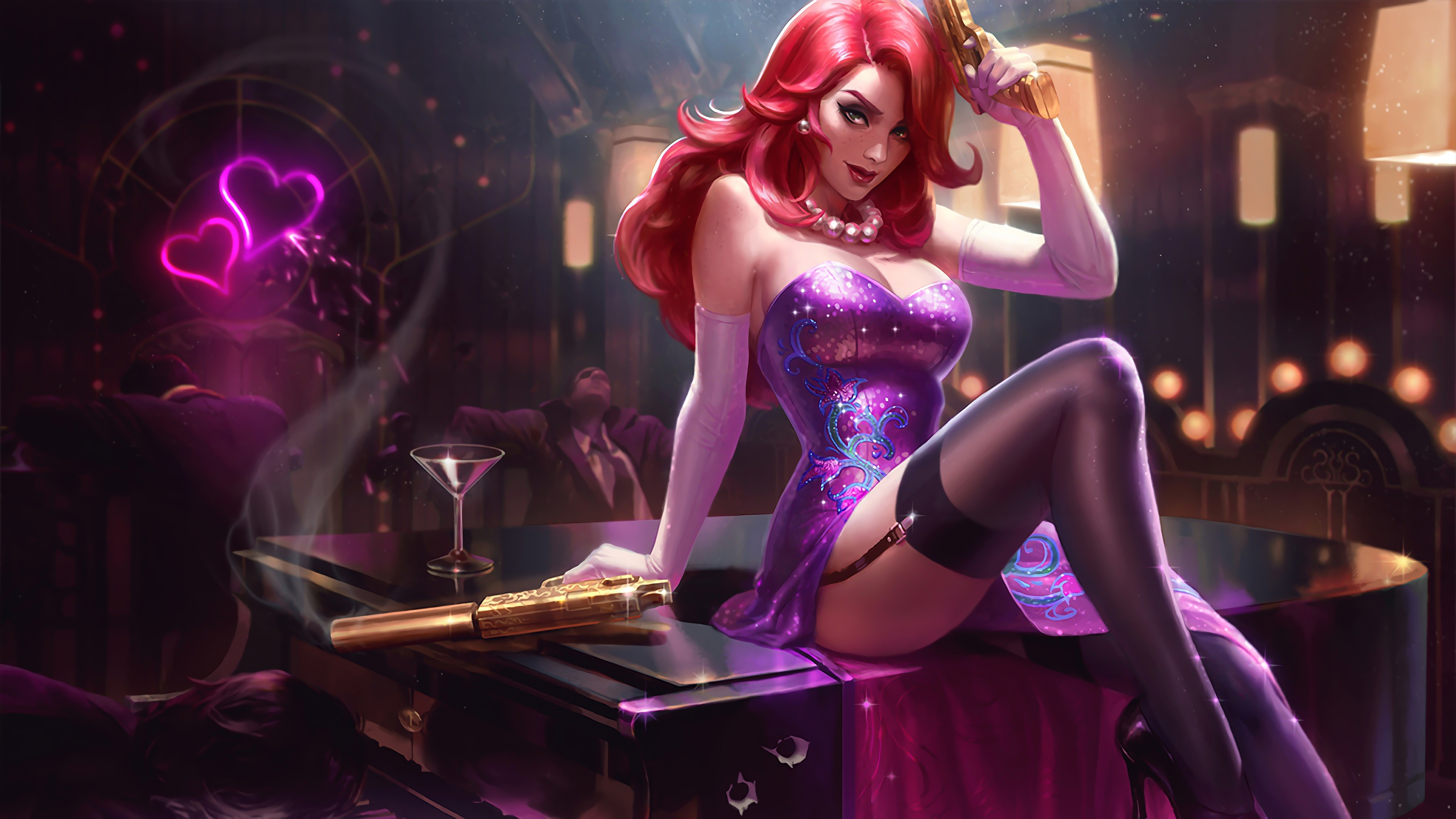 Wallpaper 4k Secret Agent Miss Fortune Lol Splash Art League Of