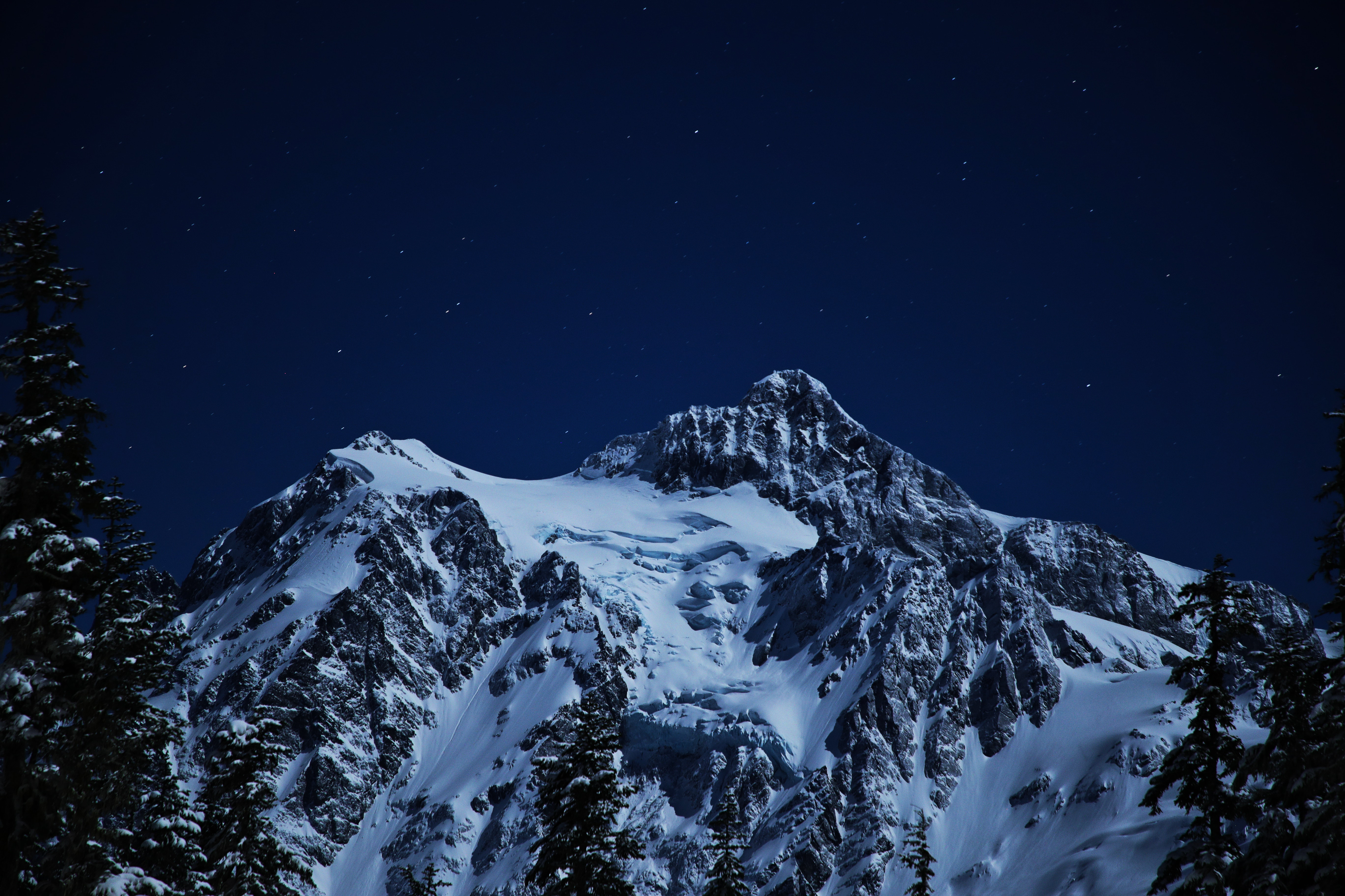 snow capped mountains during night time 1574939578 - Snow Capped Mountains During Night Time -