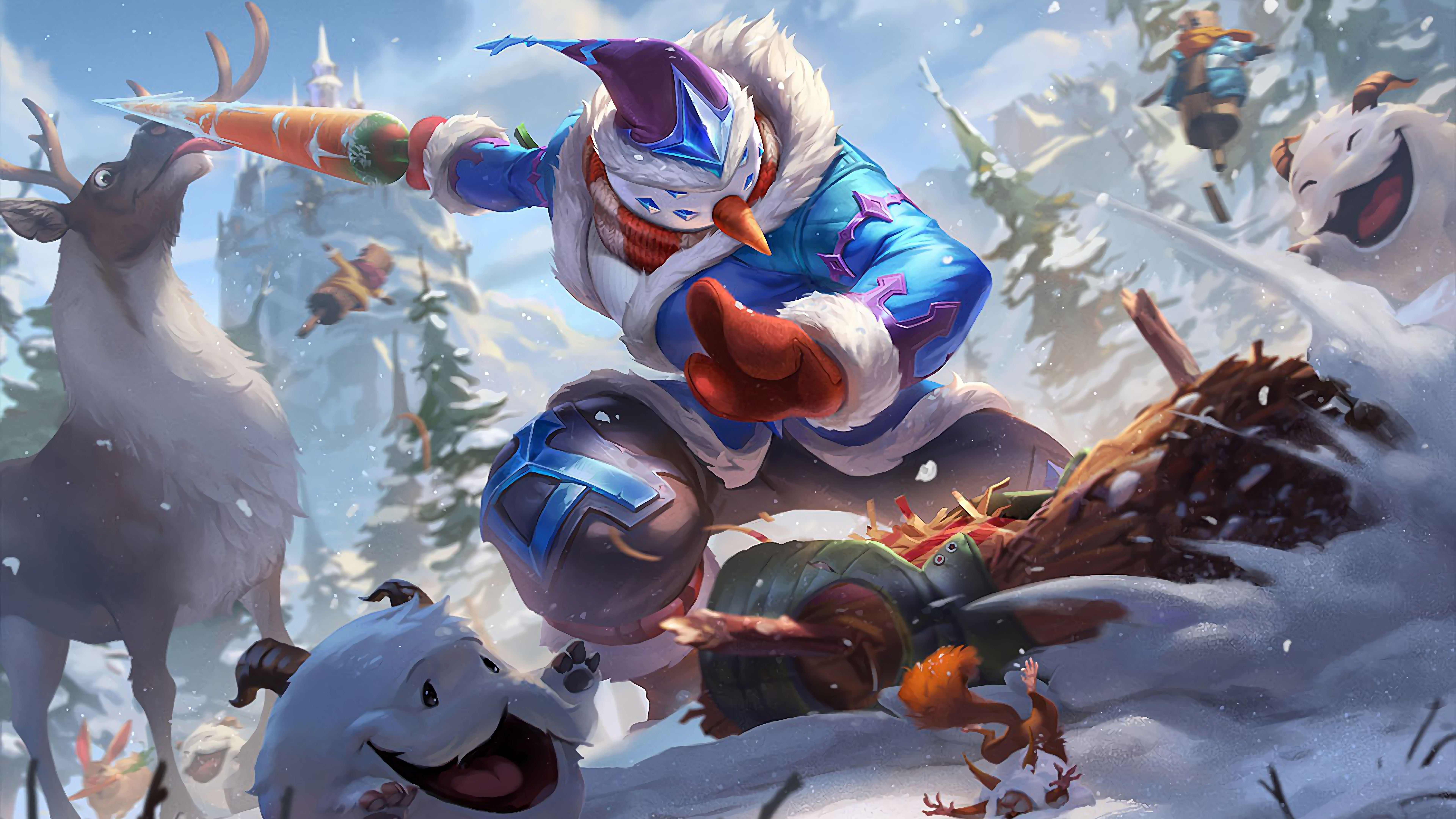 snow man yi lol splash art skin league of legends lol 1574105028 - Snow Man Yi LoL Splash Art Skin League of Legends lol - Snowdown - League of Legends, Master Yi, league of legends