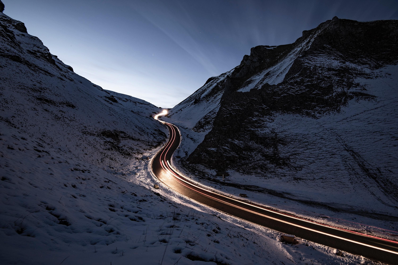 snowy road way long exposure 1574939452 - Snowy Road Way Long Exposure -