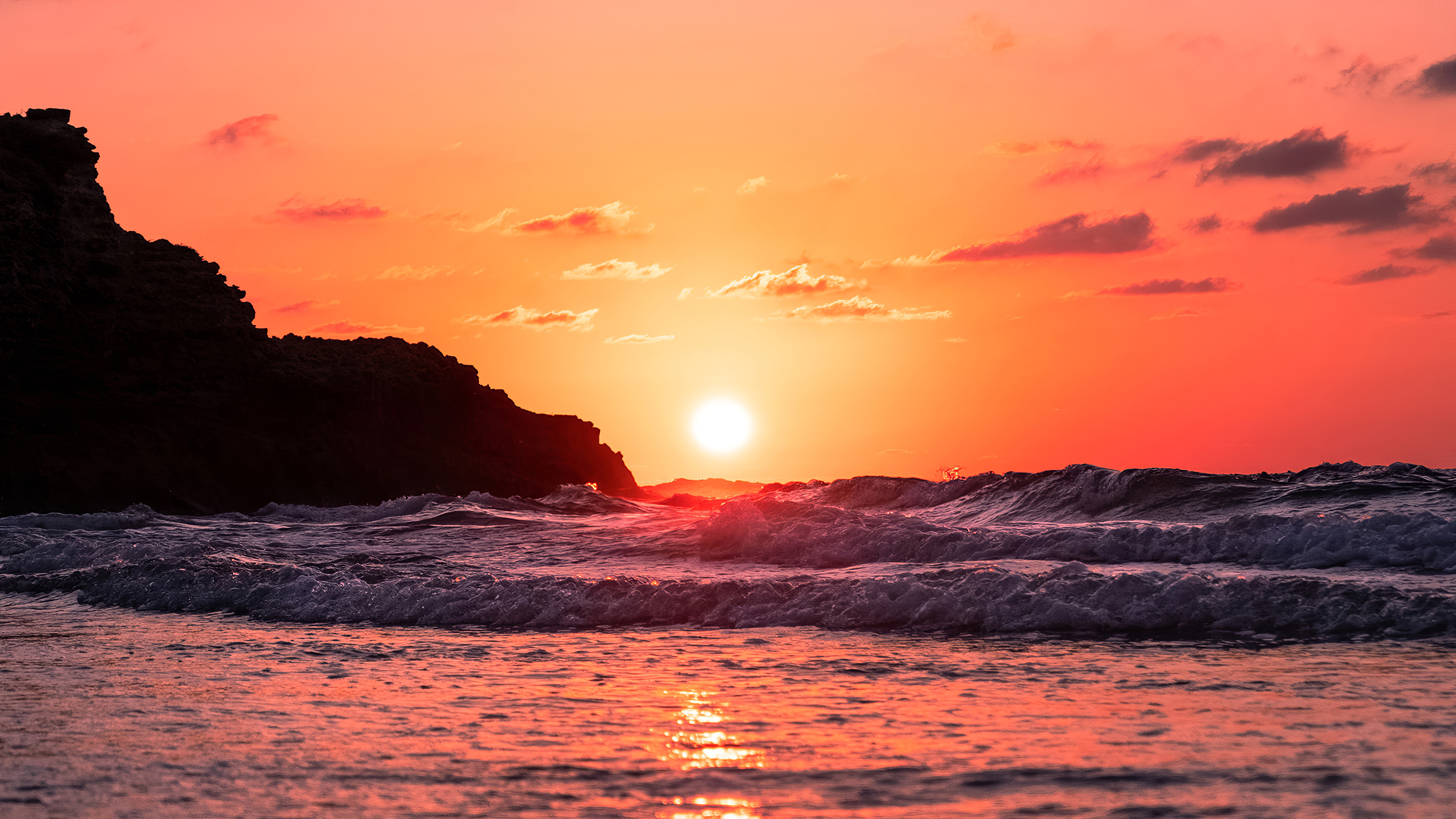 waves ocean sunset 1574937849 - Waves Ocean Sunset -