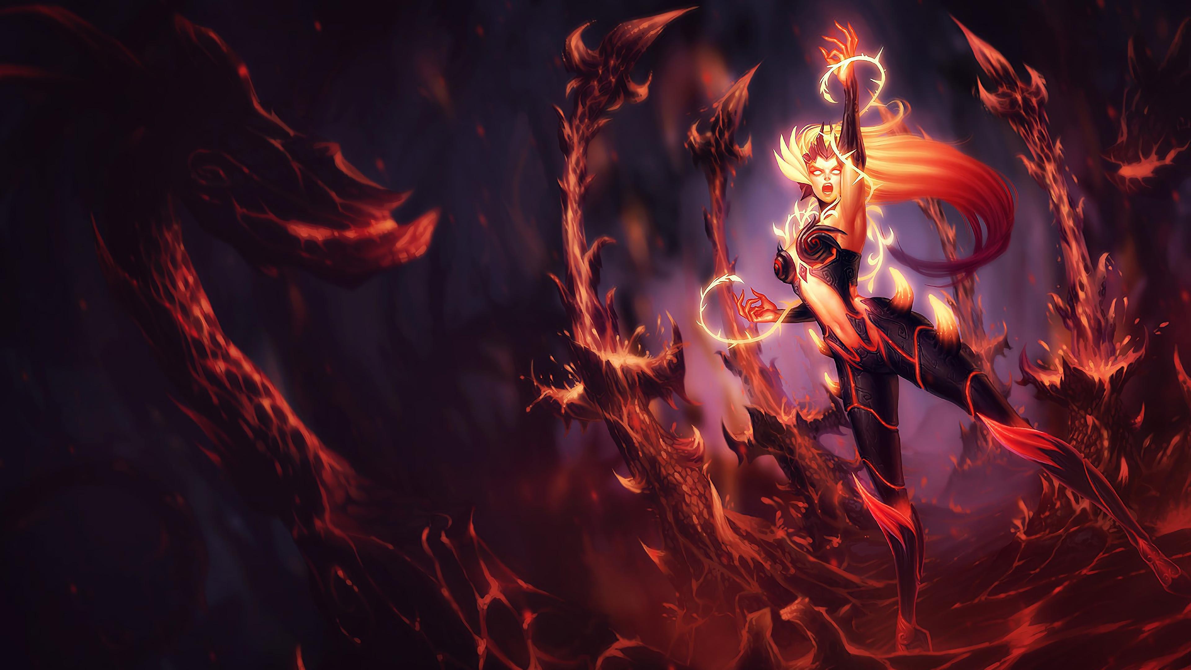 wildfire zyra lol splash art league of legends 1574099502 - Wildfire Zyra LoL Splash Art League of Legends - Zyra, league of legends
