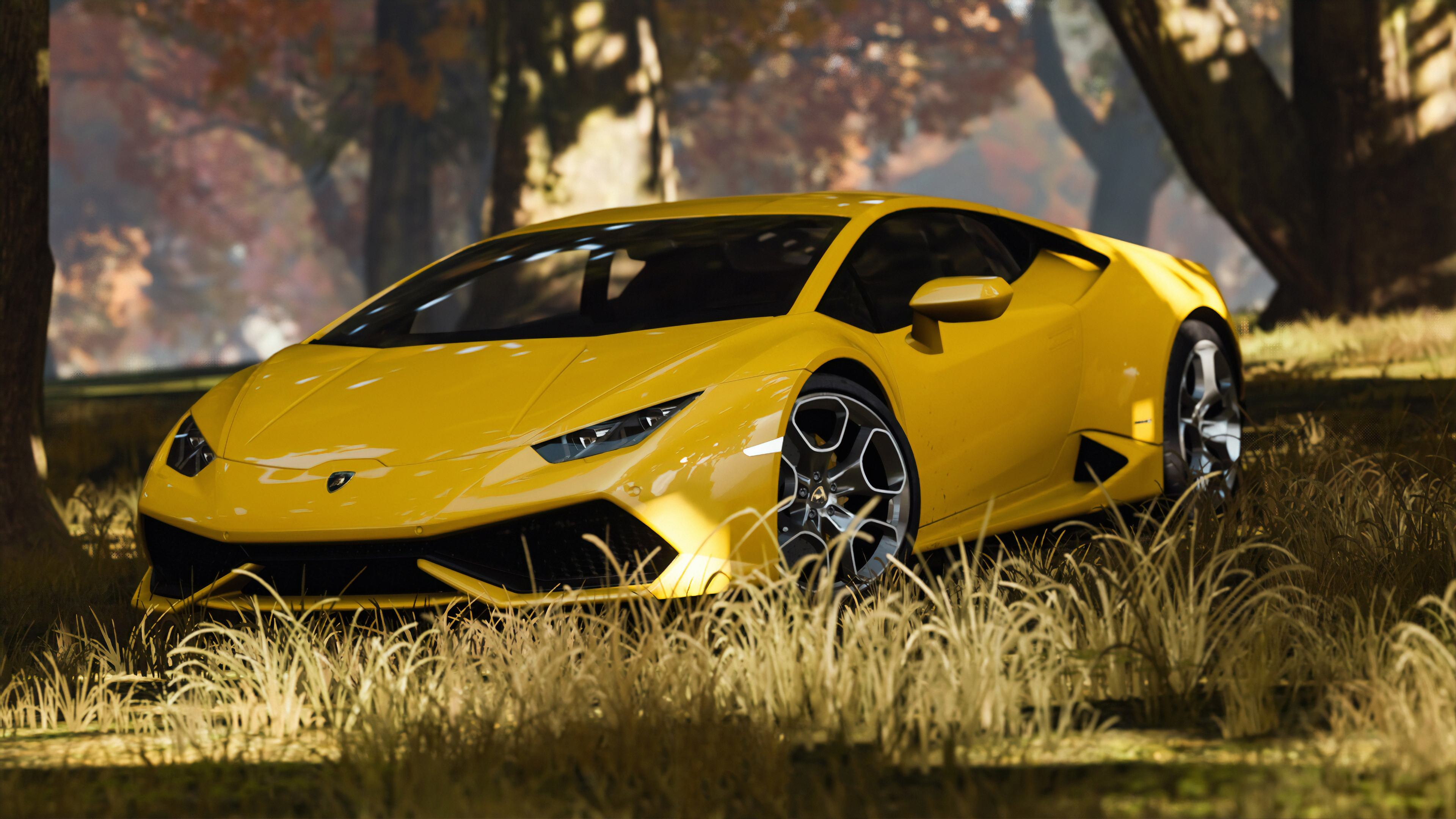 yellow lamborghini 1572660973 - Yellow Lamborghini - lamborghini wallpapers, hd-wallpapers, cars wallpapers, artstation wallpapers, 4k-wallpapers