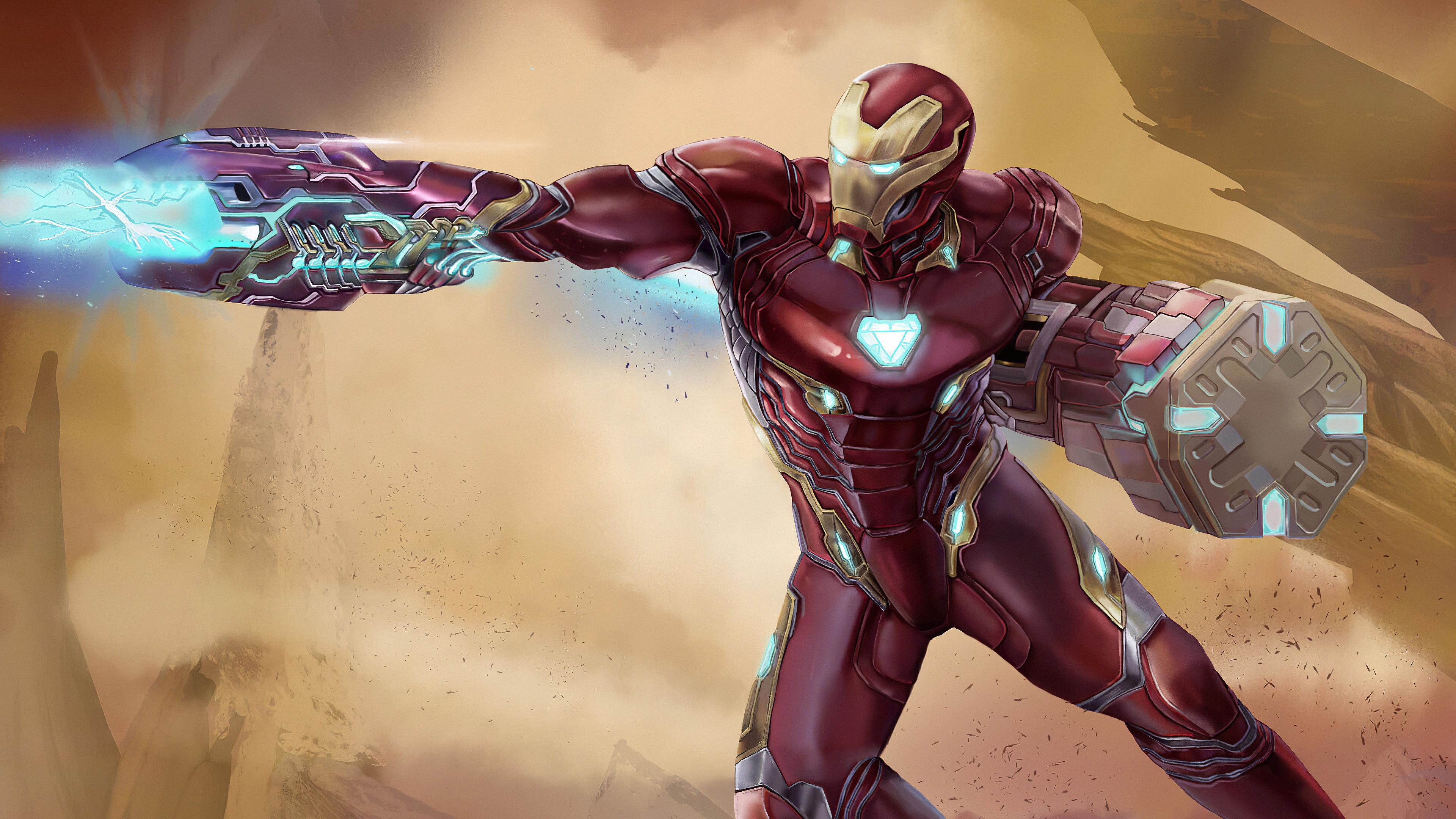 Wallpaper 4k Blaster Iron Man Art Iron Man 4k Hd Wallpaper