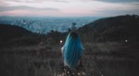 blue hair sitting on grass field back view 1575665462 200x110 - Blue Hair Sitting On Grass Field Back View -