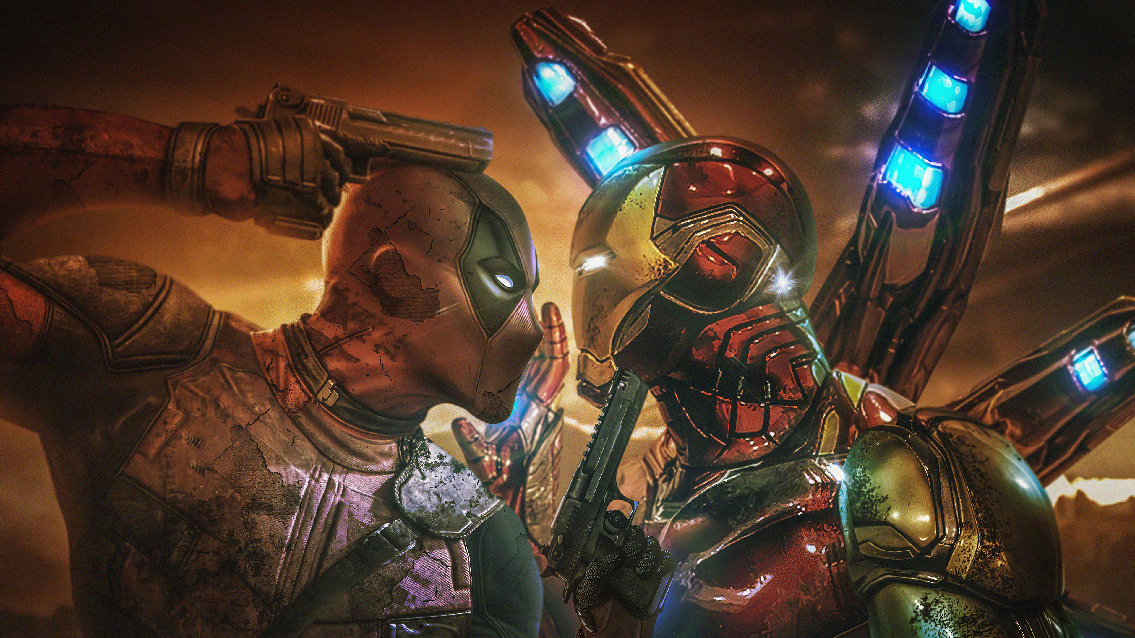 deadpool vs iron man 4k 1576090215 - Deadpool Vs Iron Man 4k - deadpool vs ironman wallpaper 4k