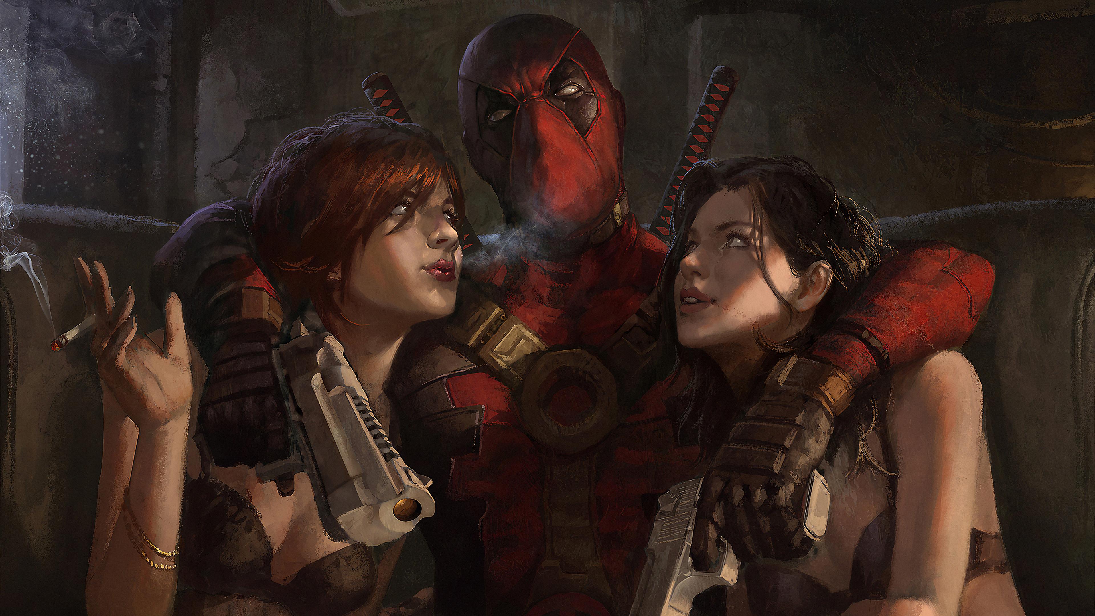 deadpool with girl 1576090701 - Deadpool With Girl - deadpool wallpaper with girl, deadpool wallpaper