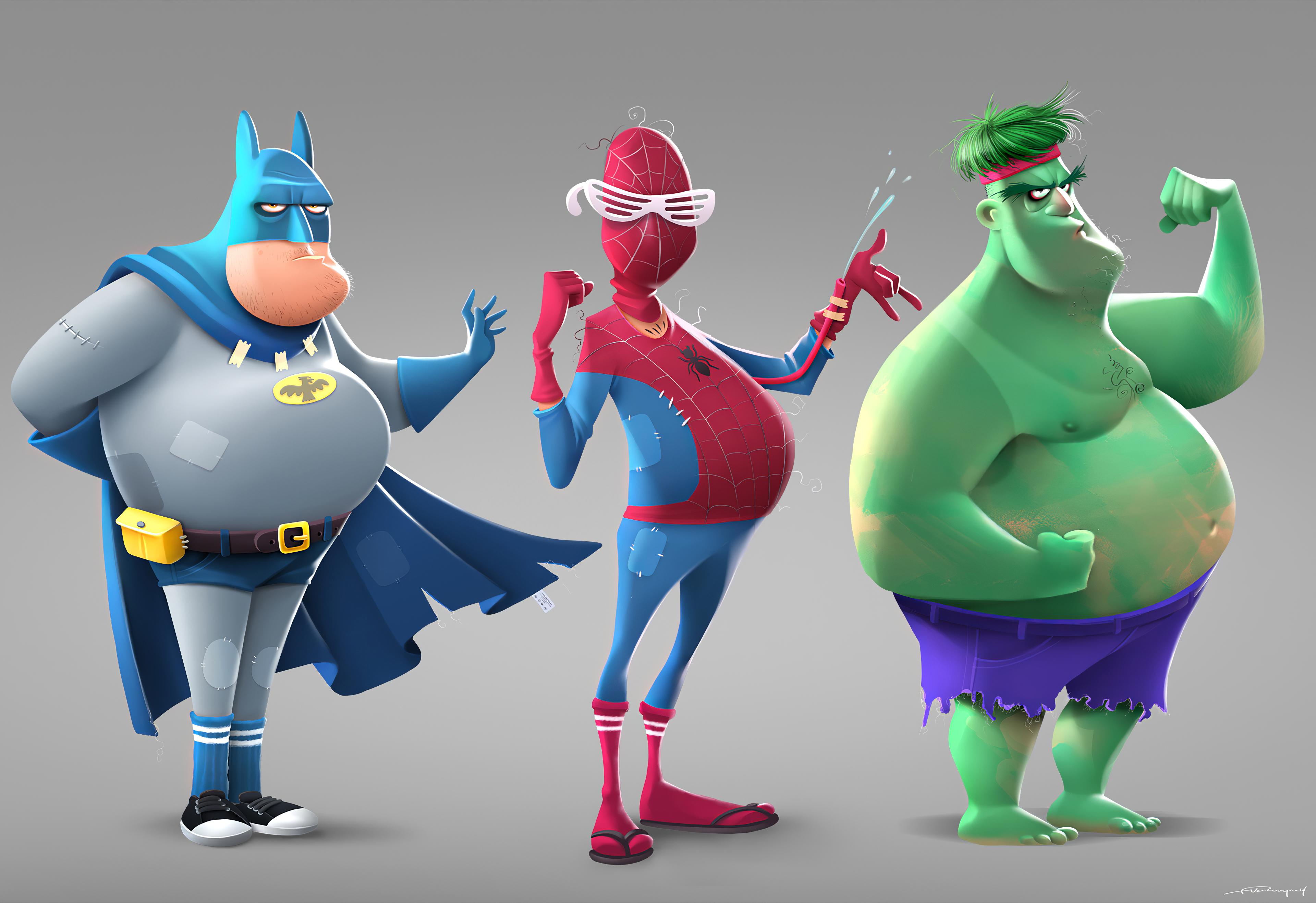 fat batman spiderman hulk 1576088876 - Fat Batman Spiderman Hulk - Fat Batman Spiderman Hulk hd 4k wallpapers