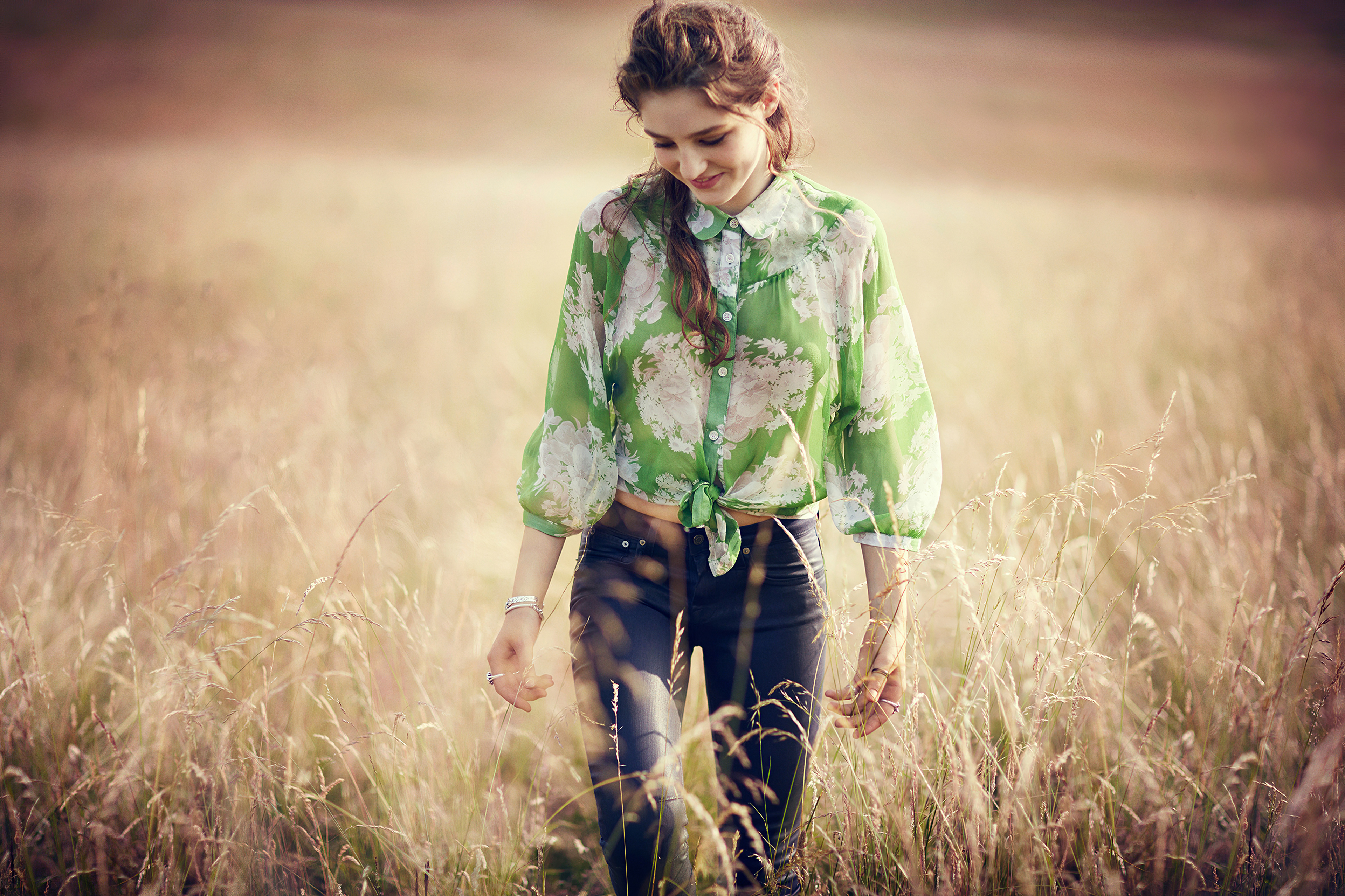 girl in field walking smiling 1575666211 - Girl In Field Walking Smiling -