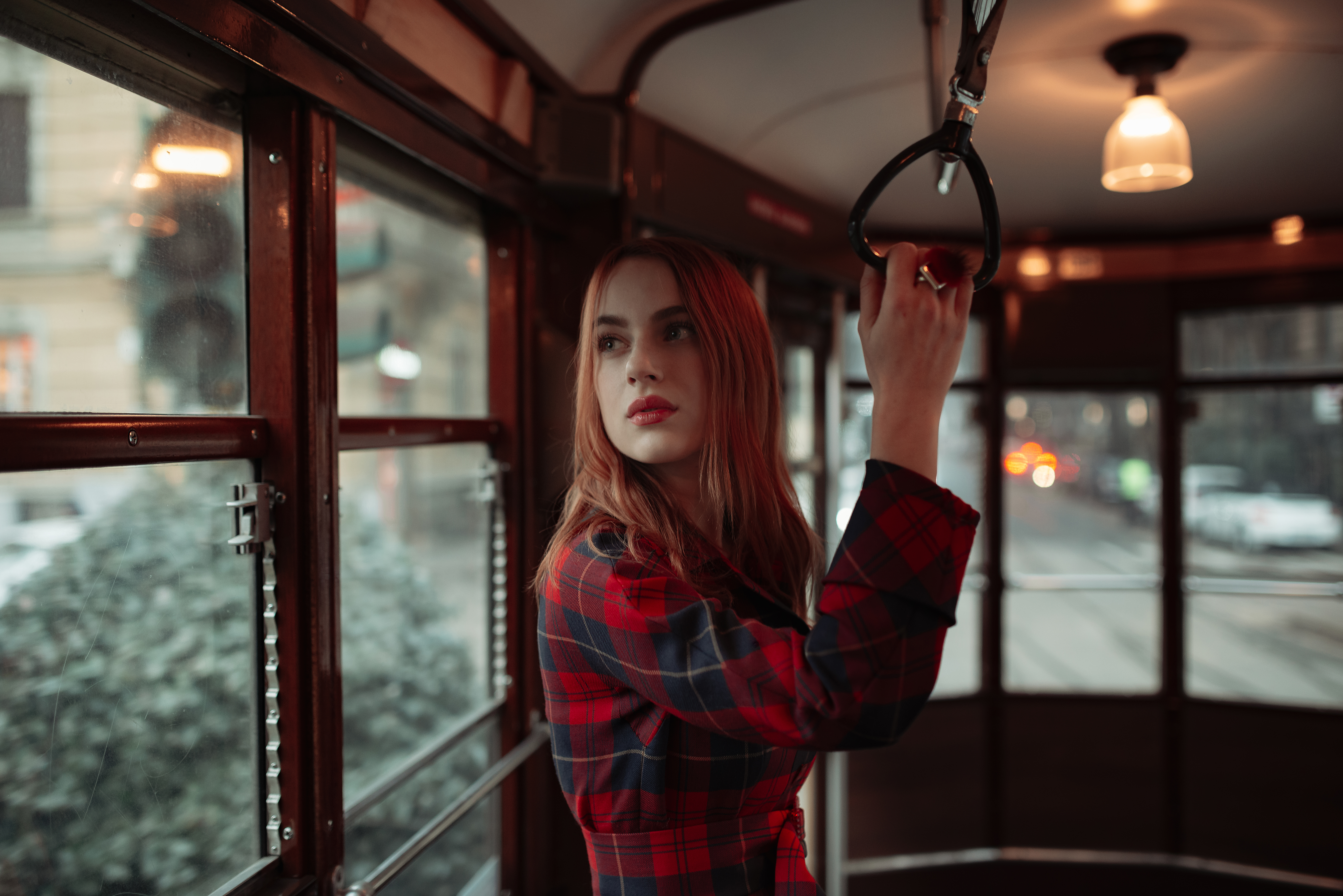 girl standing in tram 1575665240 - Girl Standing In Tram -