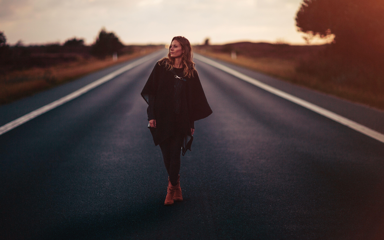 girl standing on road 1575664968 - Girl Standing On Road -