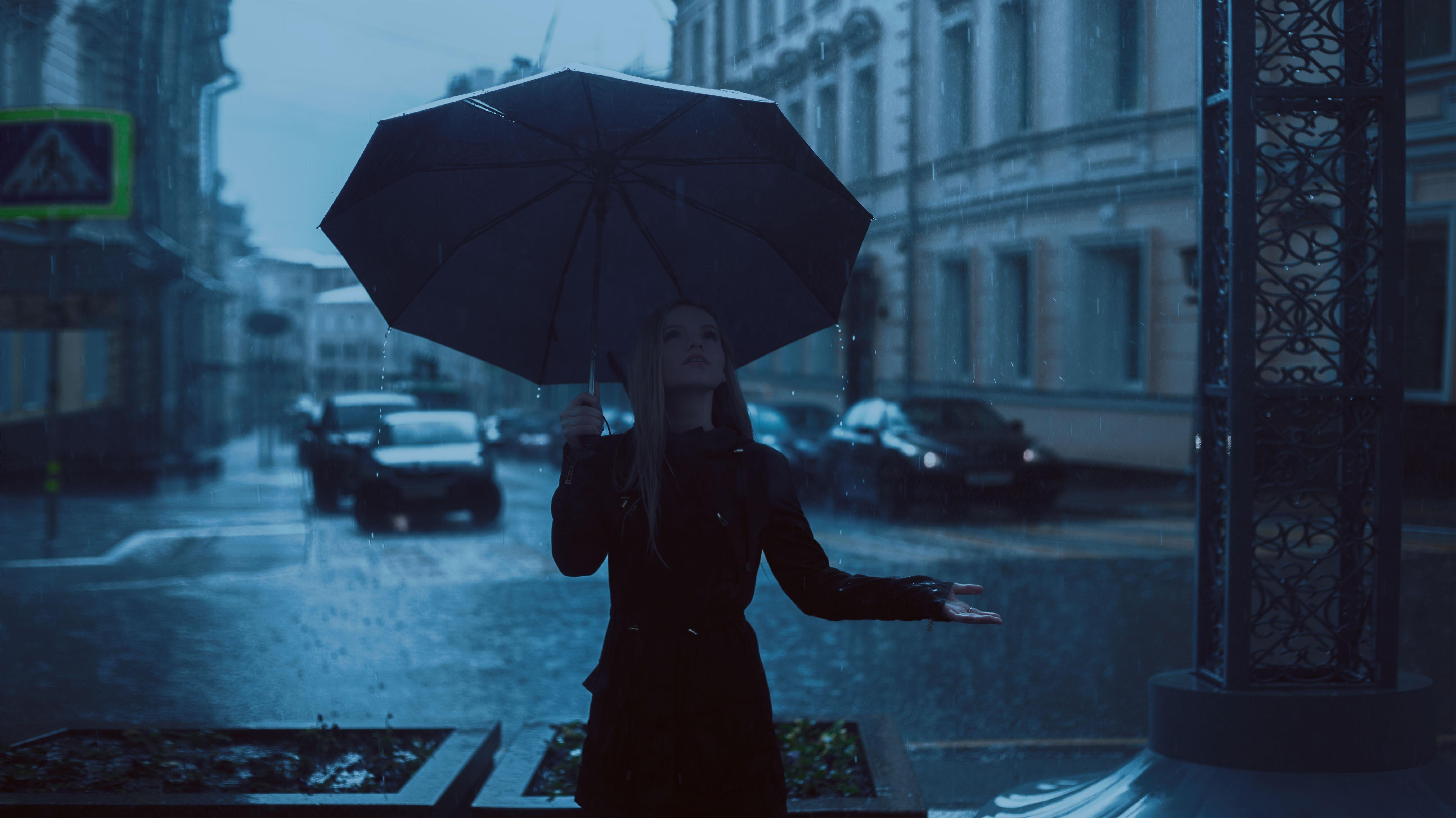 girl with umbrella enjoying rain 1575664029 - Girl With Umbrella Enjoying Rain -