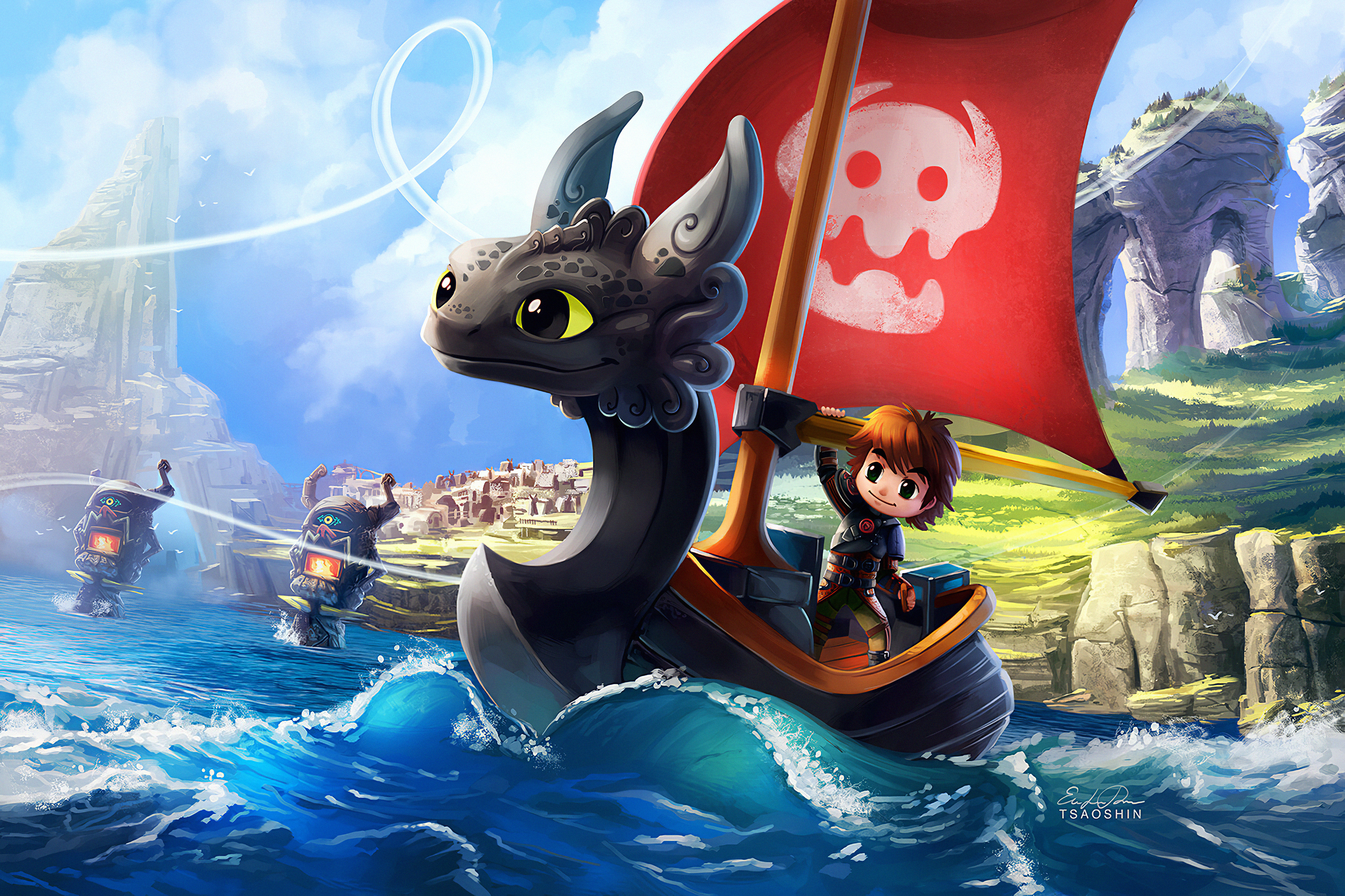 how to train your dragon and wind waker crossover 1575659532 - How To Train Your Dragon And Wind Waker Crossover -