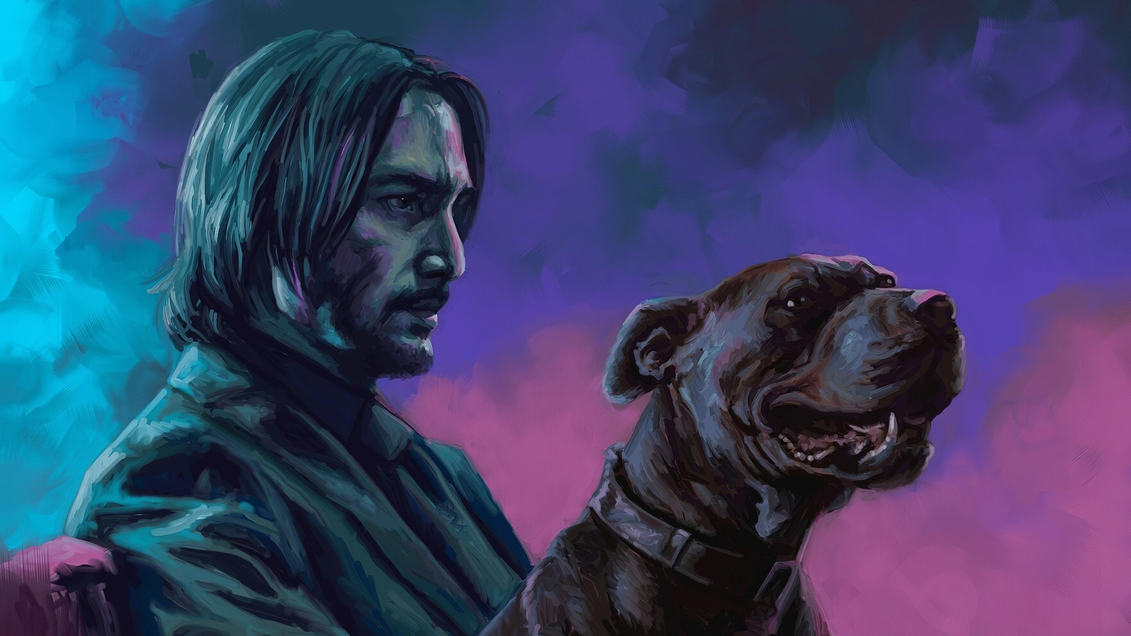 john wick with dog art 1575659371 - John Wick With Dog Art -